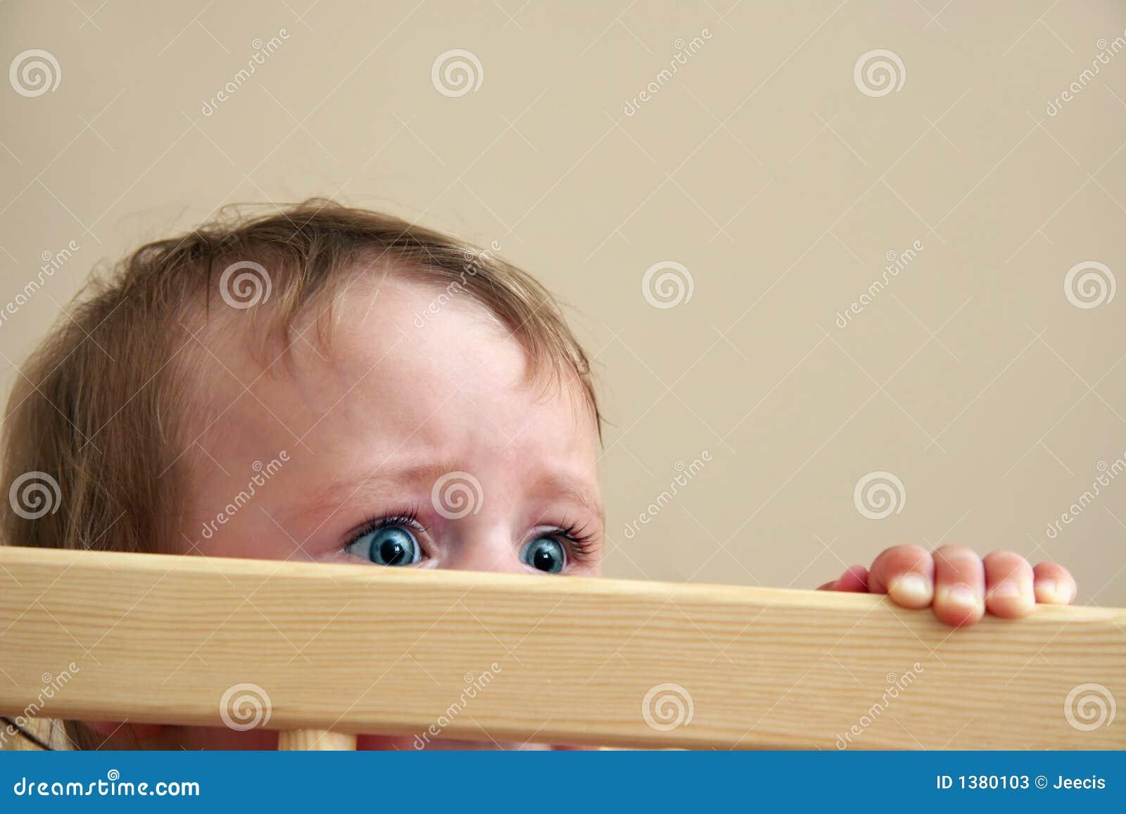 Miedo en ojos del bebé