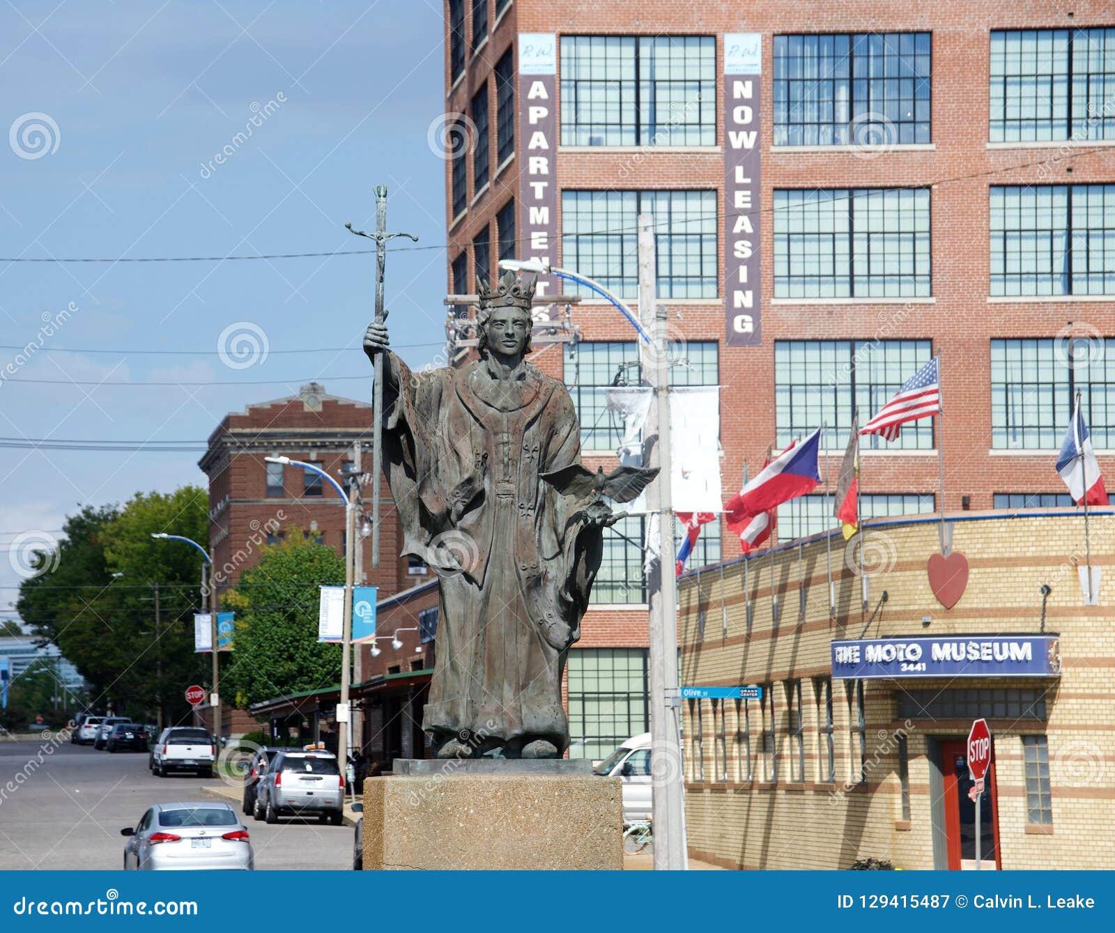 Miedziana i Brązowa statua, St Louis, Missouri