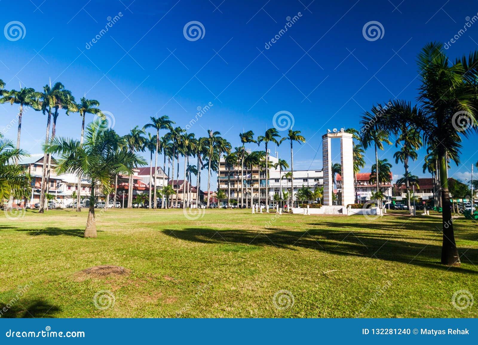Miejsca des Palmistes kwadrat w Cayenne