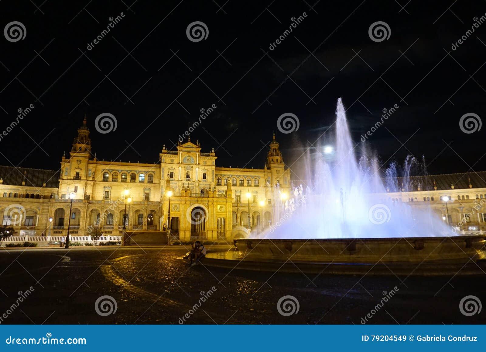 Miejsca Seville Spain kwadratowy turystyczny