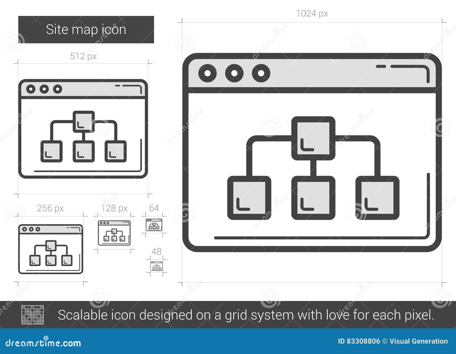 Miejsce mapy linii ikona
