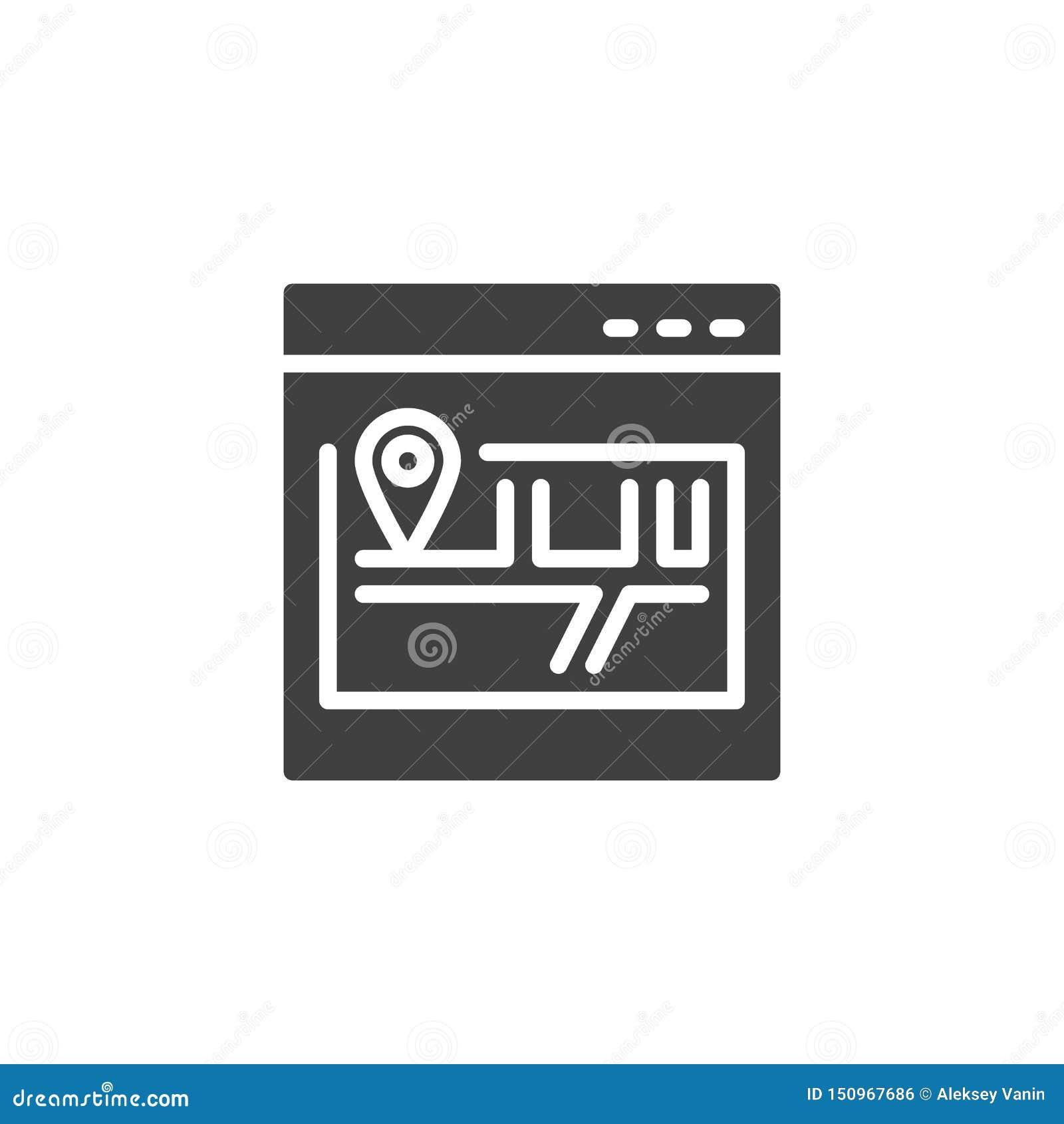 Miejsce mapy wektoru ikona