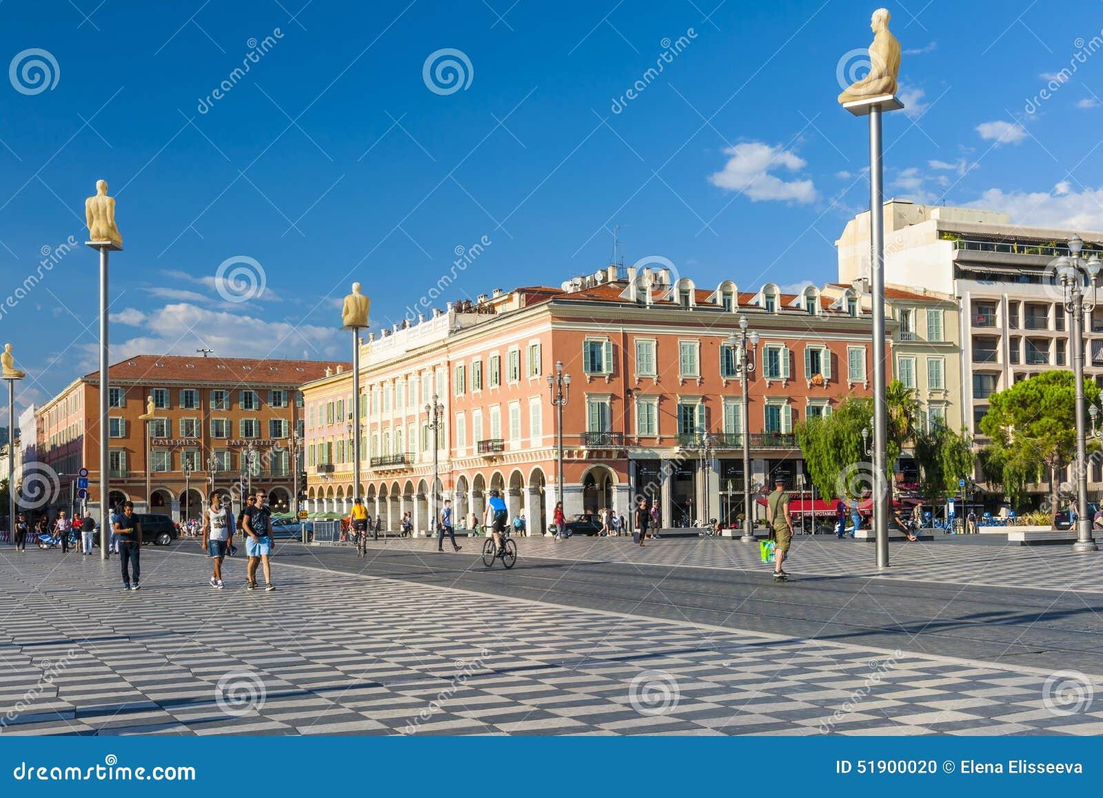 Miejsce Massena w Ładnym, Francja