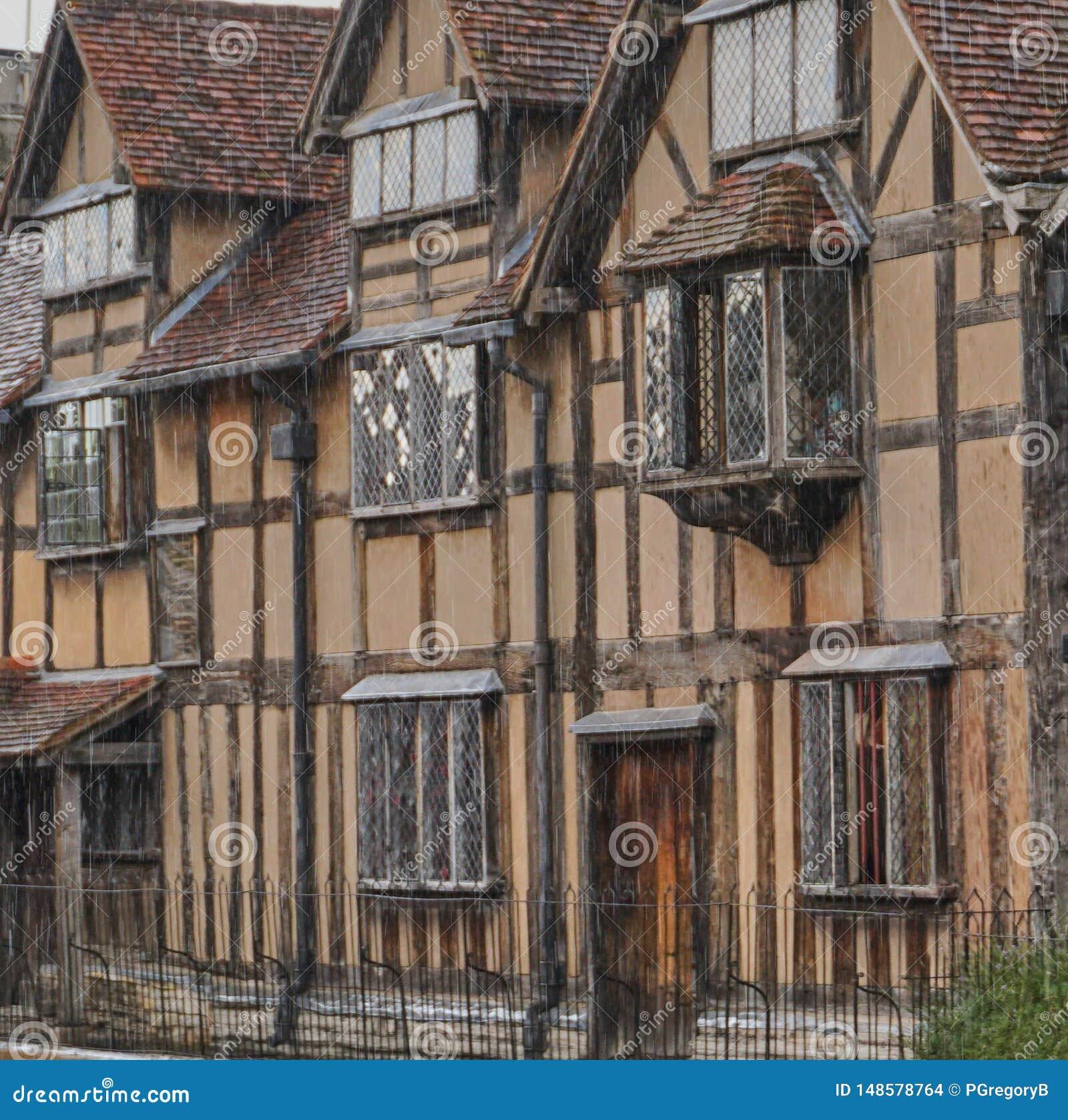 Miejsce narodzin dom William Shakespeare w Stratford, Anglia