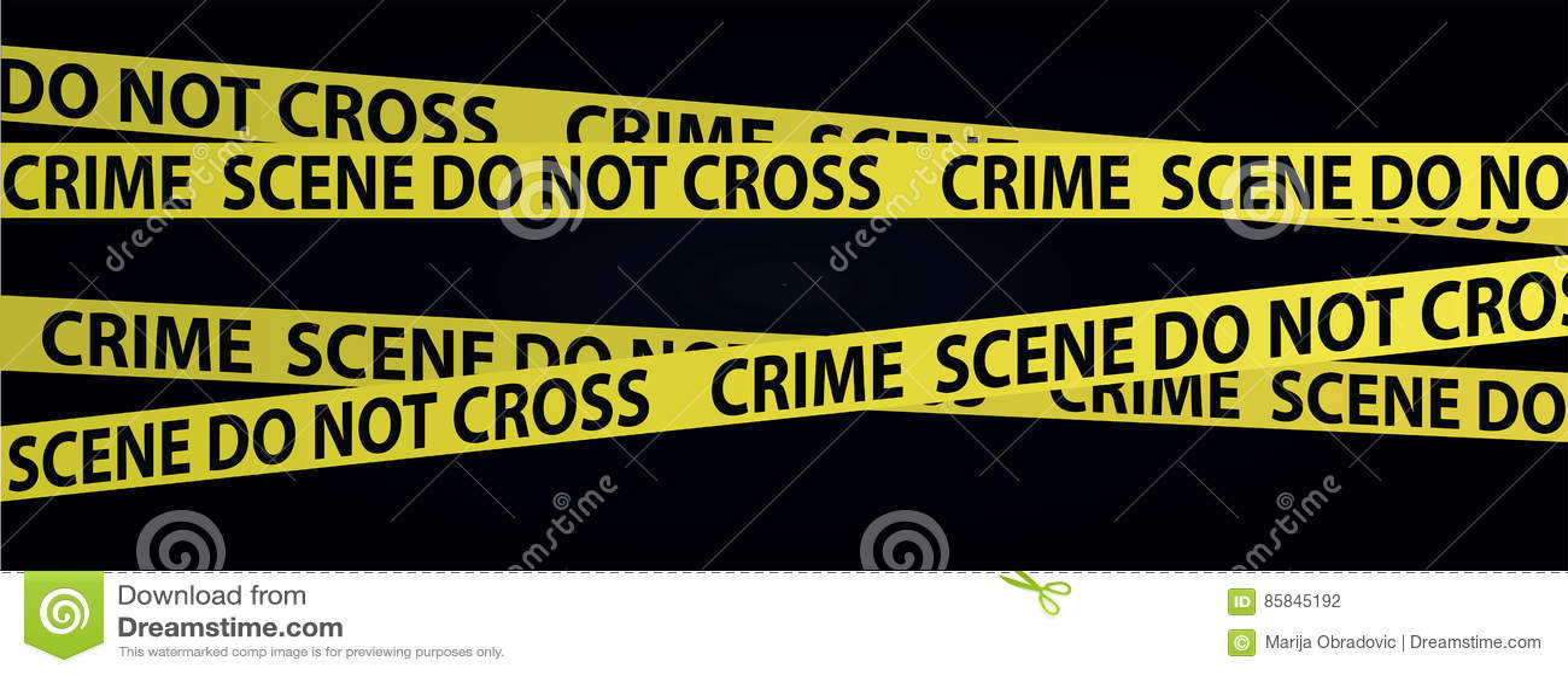 Miejsce przestępstwa taśmy