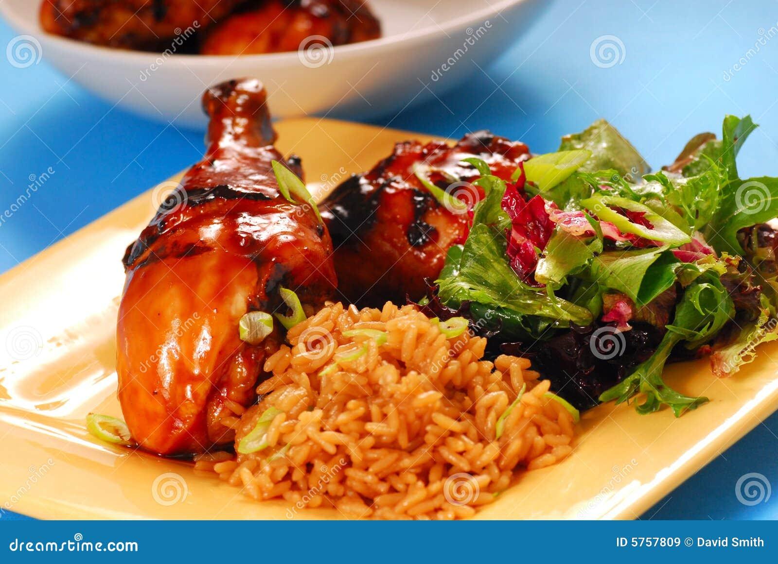 Miele e pollo asiatico lustrato balsamico