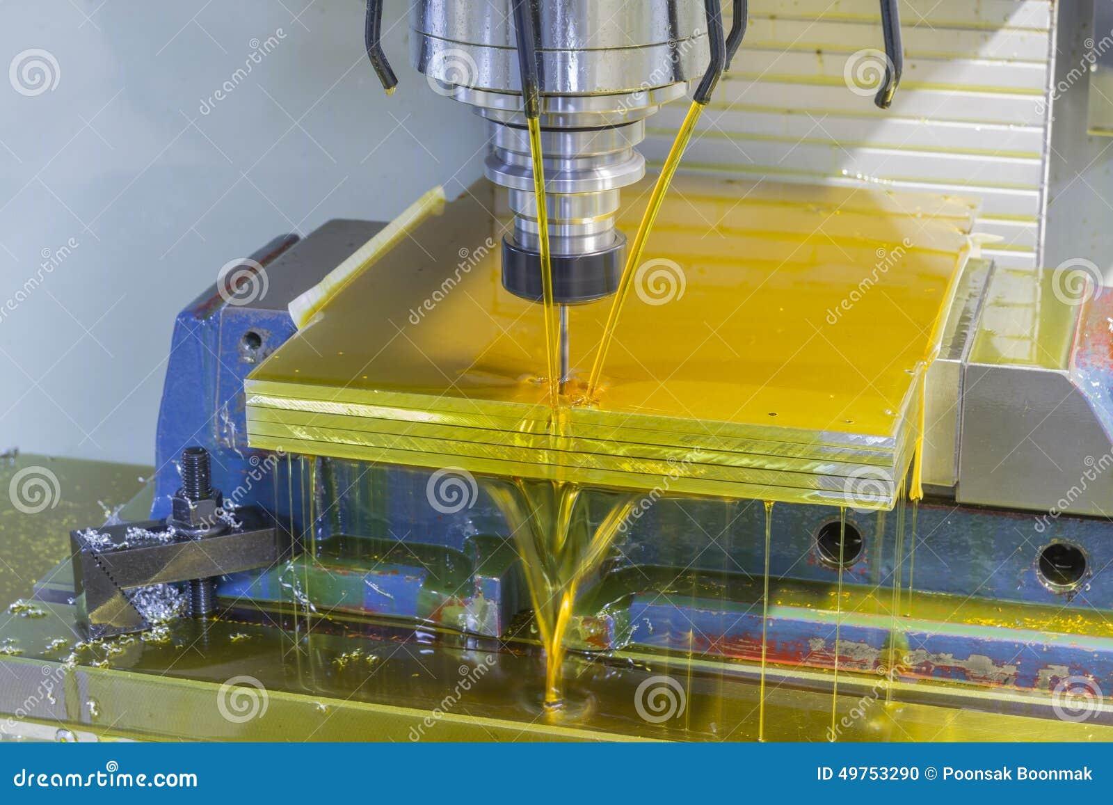 Mielenie maszyny CNC z nafcianym coolant