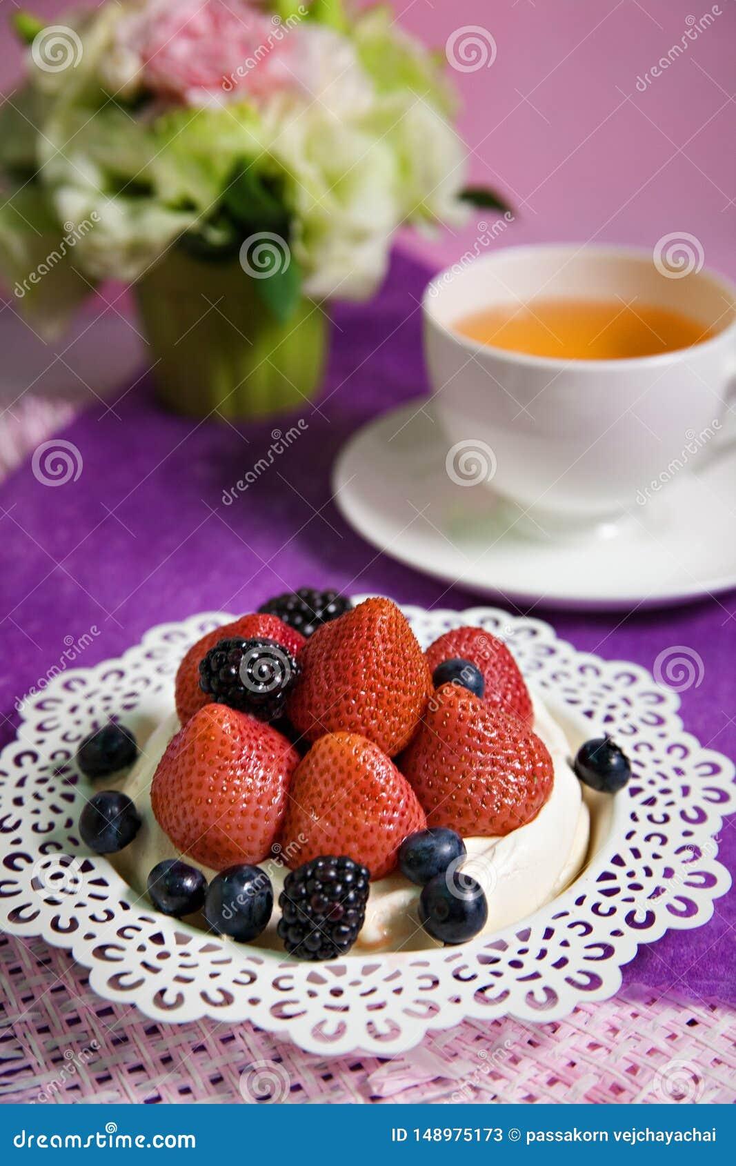 Mieszany jagoda tort