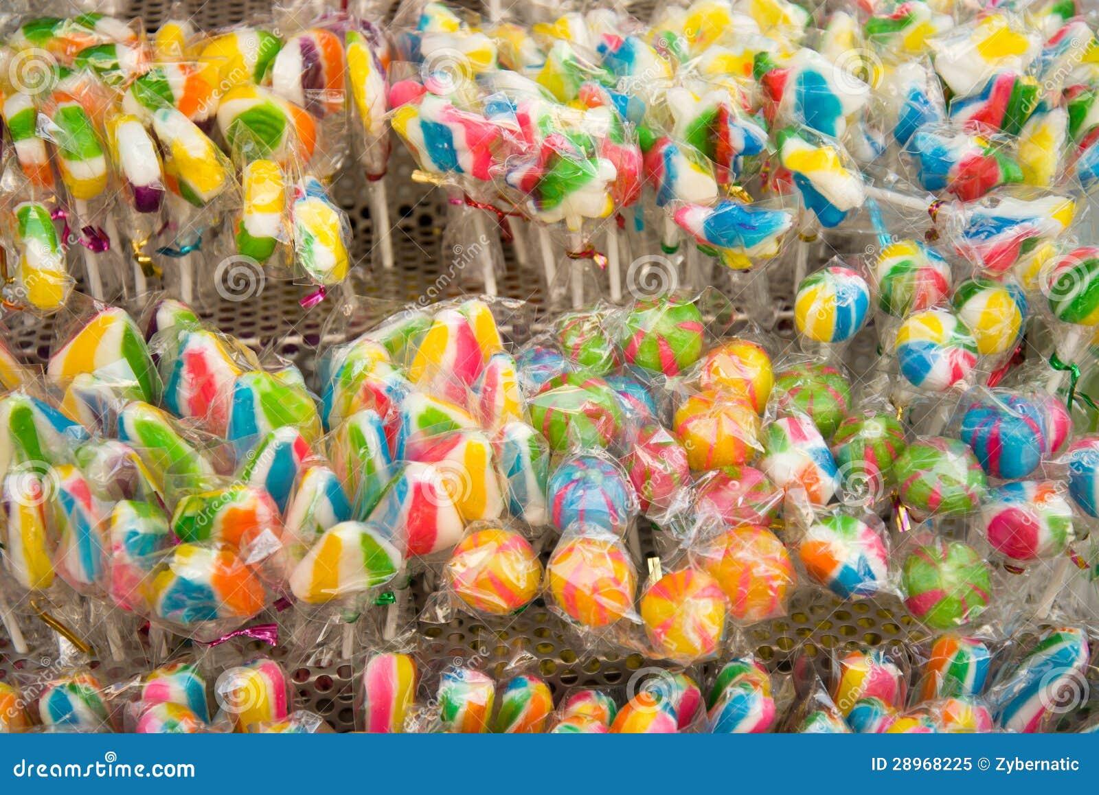 Mieszany kolorowy owocowy lollypop