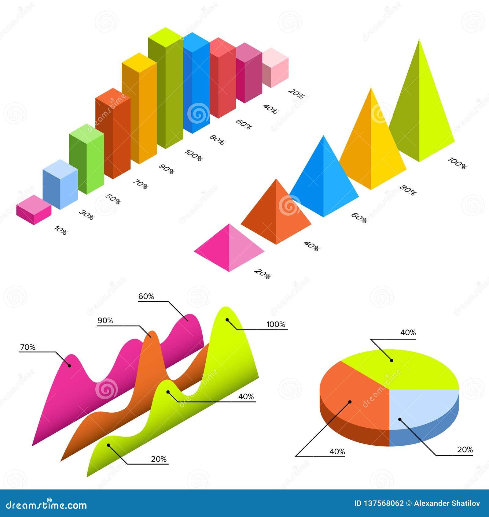 Mieszkania 3d isometric infographic dla twój biznesowych prezentacj Duży set infographics z dane ikonami, mapy i