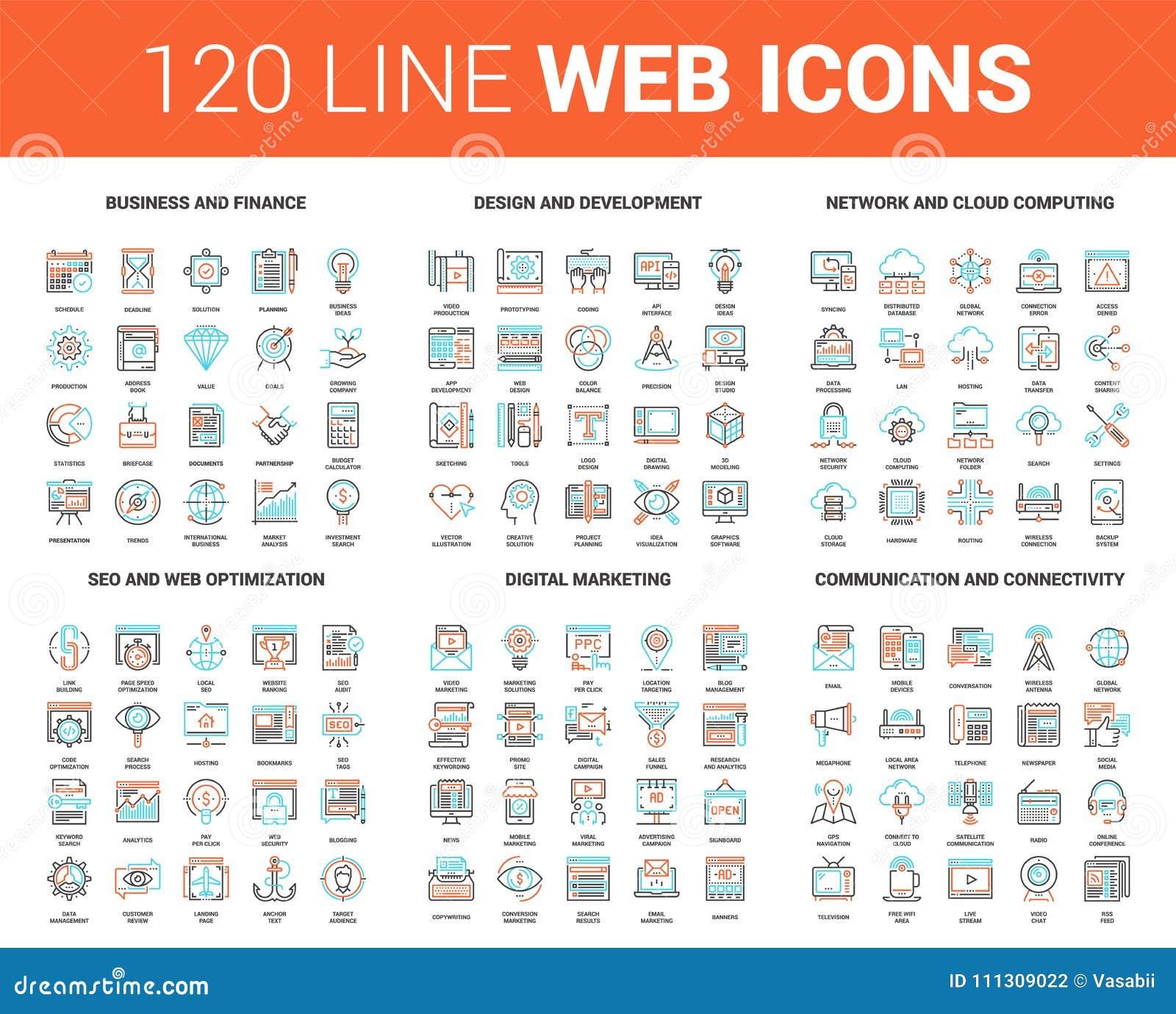 Mieszkanie sieci Kreskowe ikony