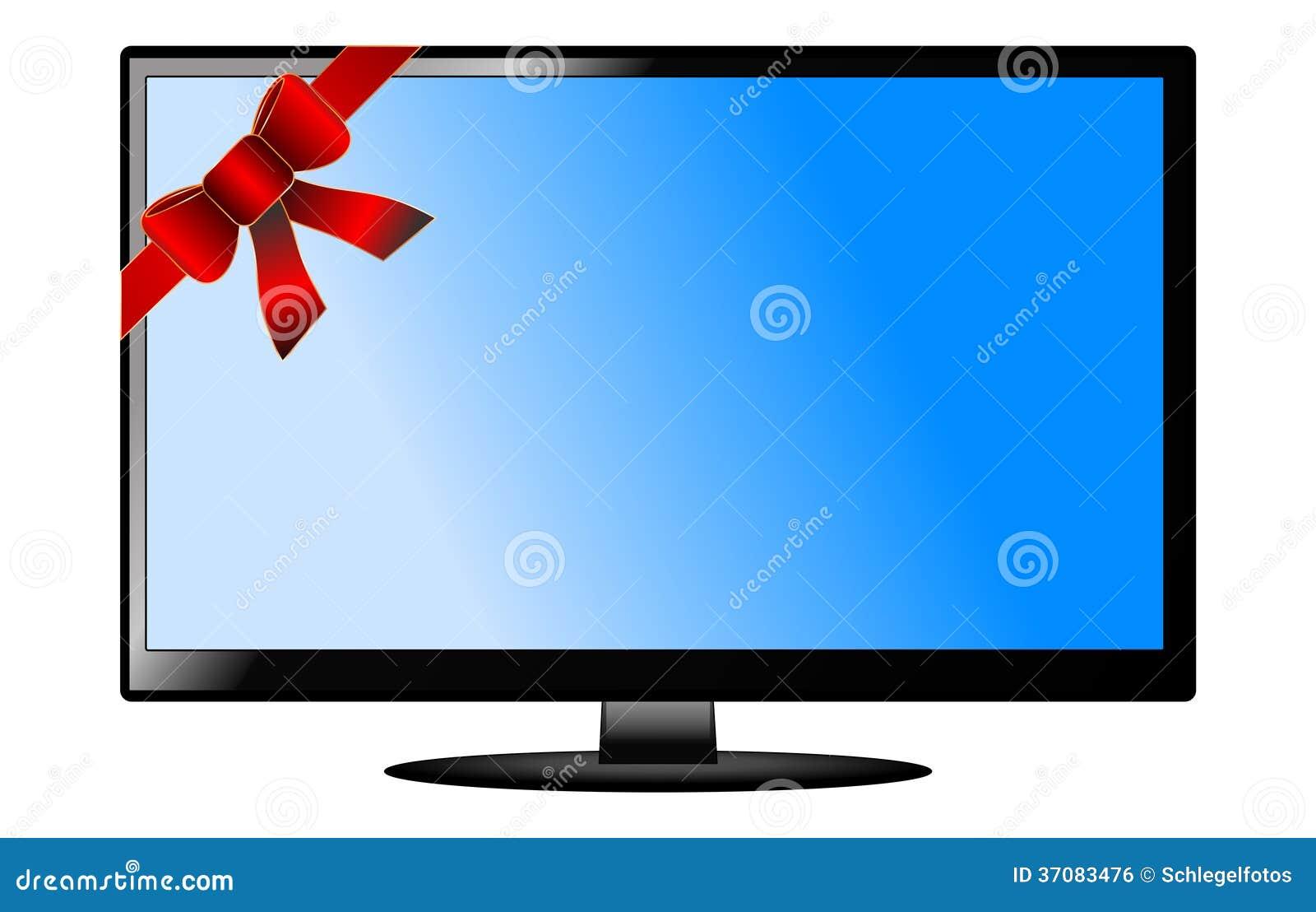 Download Mieszkanie Tv Odizolowywający Ilustracji - Ilustracja złożonej z komputer, czerń: 37083476
