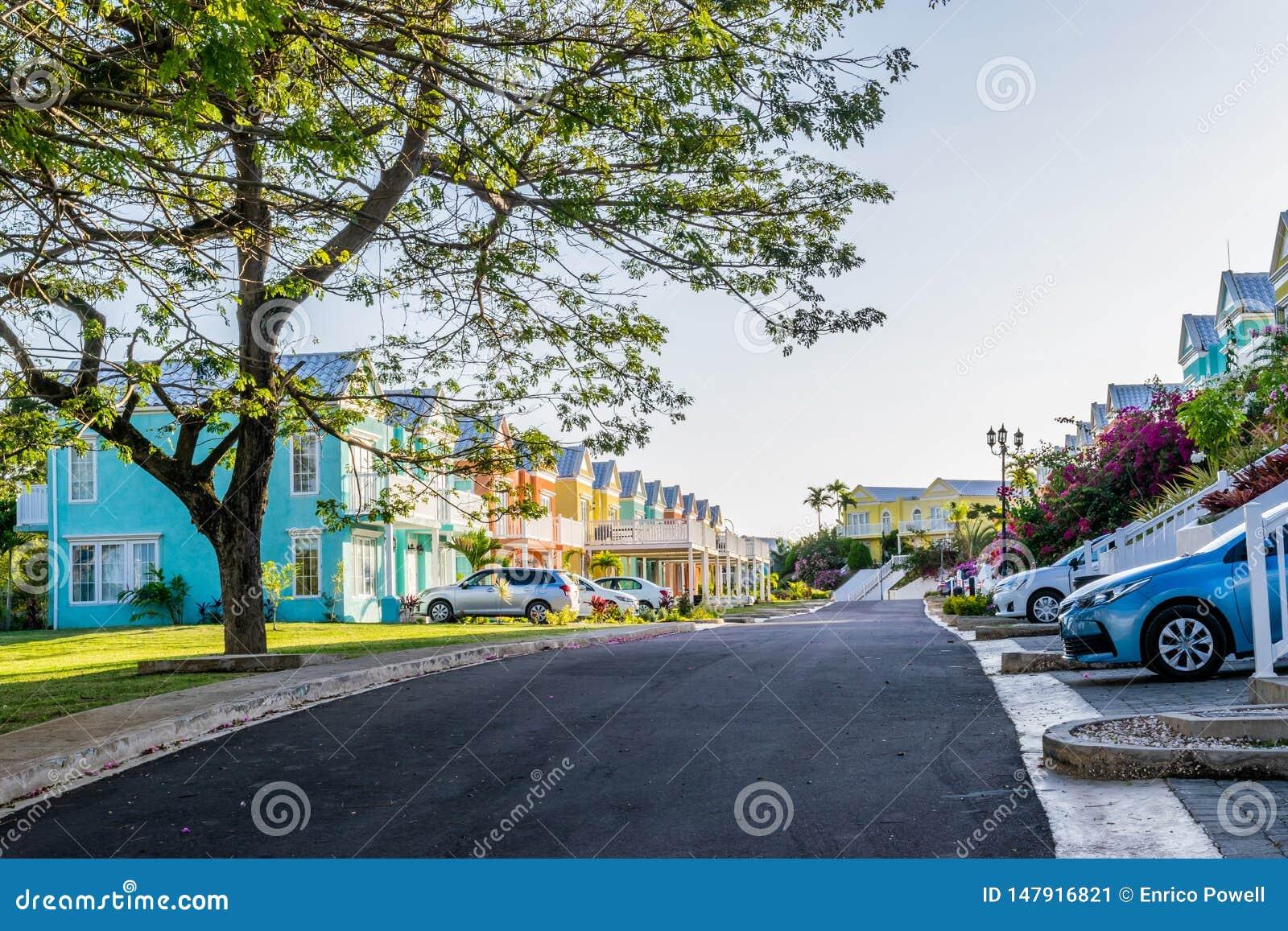 Mieszkaniowy sąsiedztwo kolorowi grodzcy domy/urlopowi domy Ekskluzywne zakazywać społeczności siedziby w wyspie karaibskiej