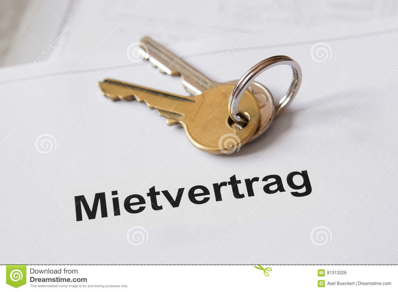 Mietvertrag German Lease Agreement Stock Photo Image Of Office
