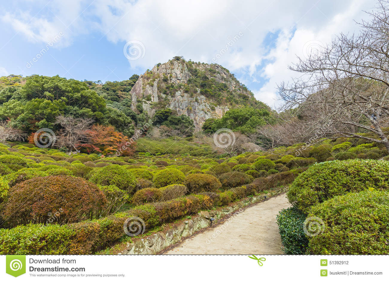 Mifuneyama Rakuen Garden In Saga Northern Kyushu Japan Stock