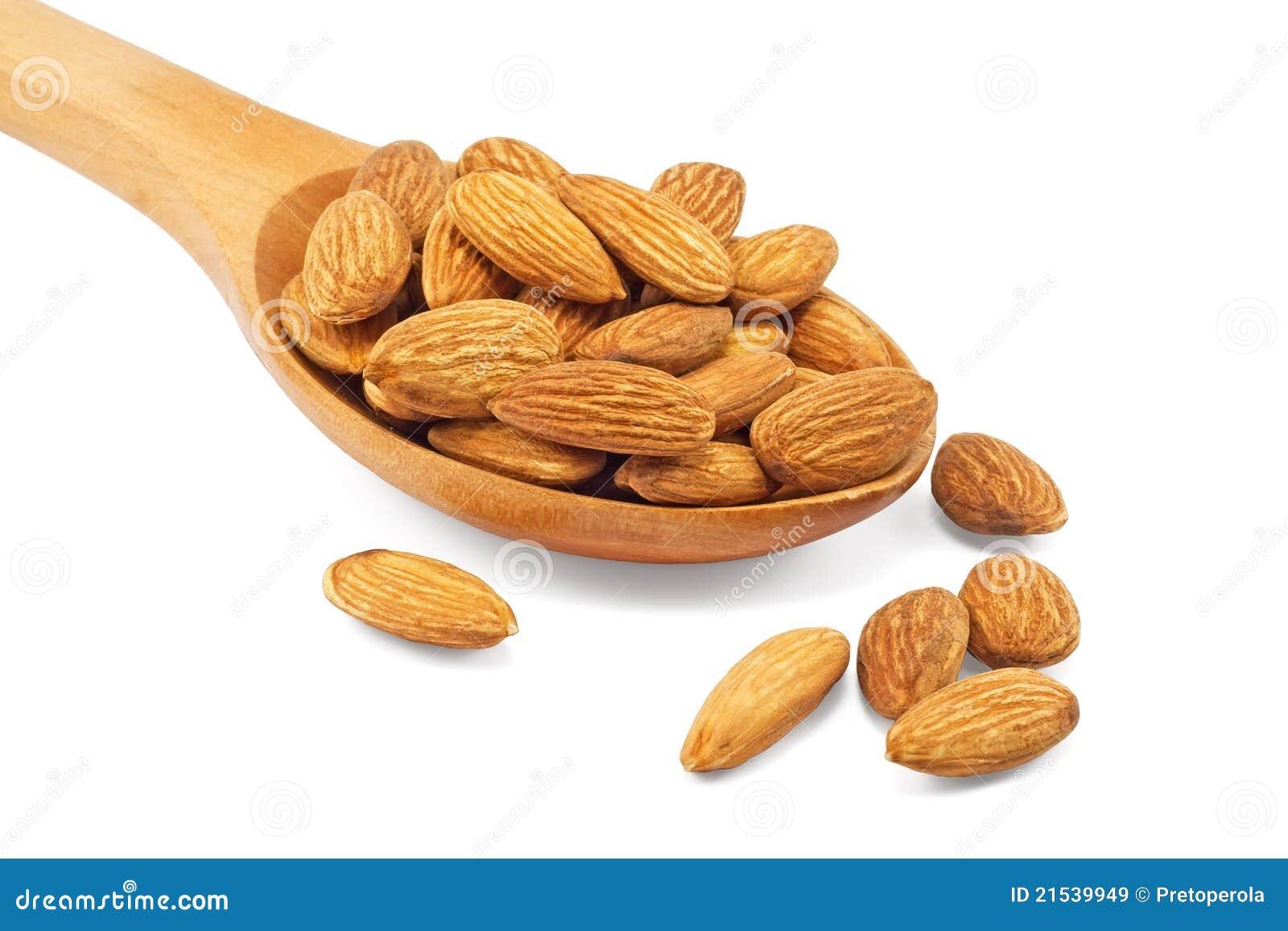 Migdały spoon drewnianego