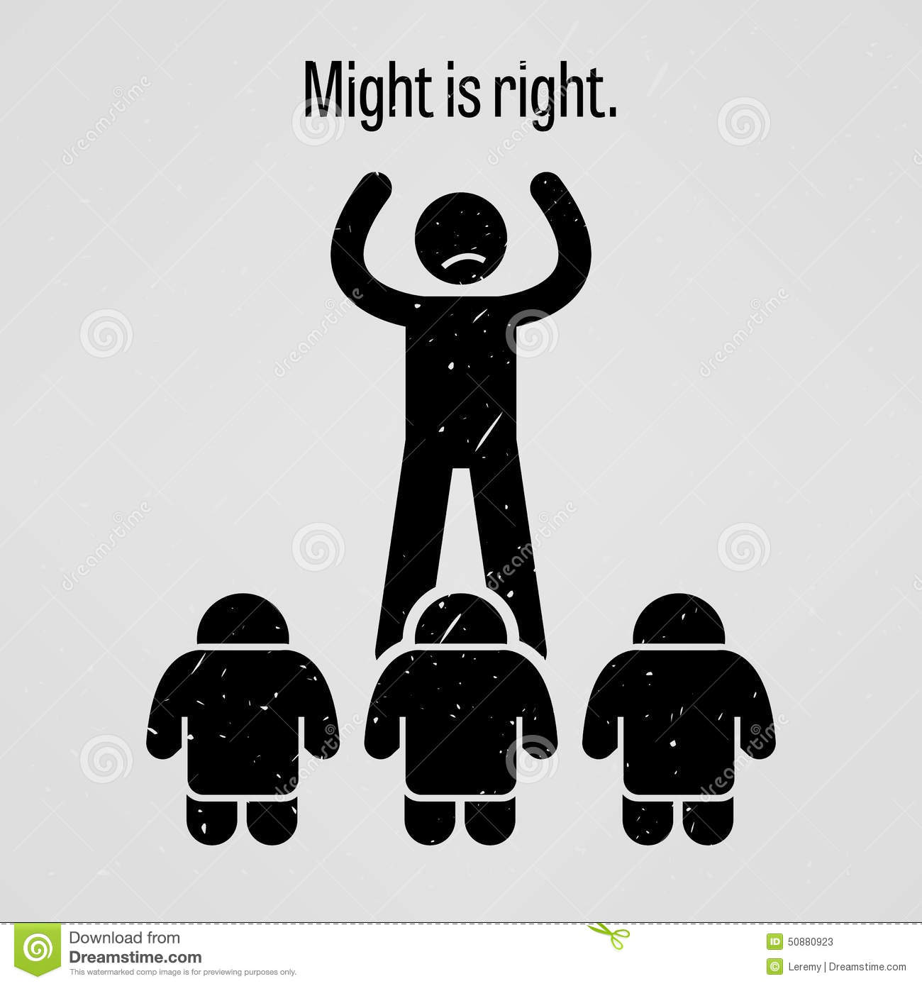 might is right stock vector   image 50880923