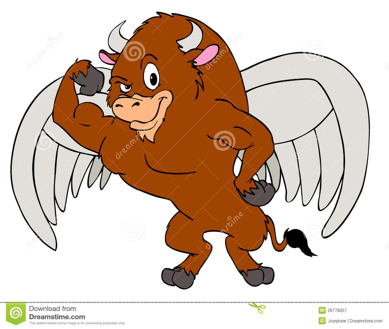 of a buffalo with wings  A Buffalo With Wings