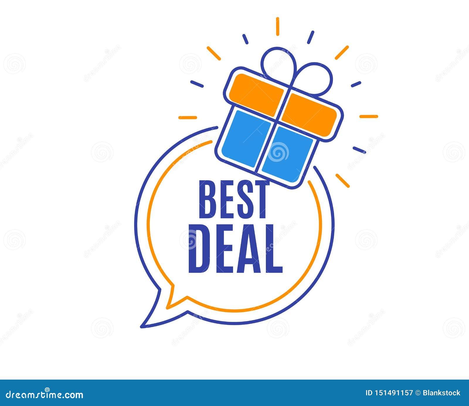 Migliore affare Segno di vendita di offerta speciale Vettore