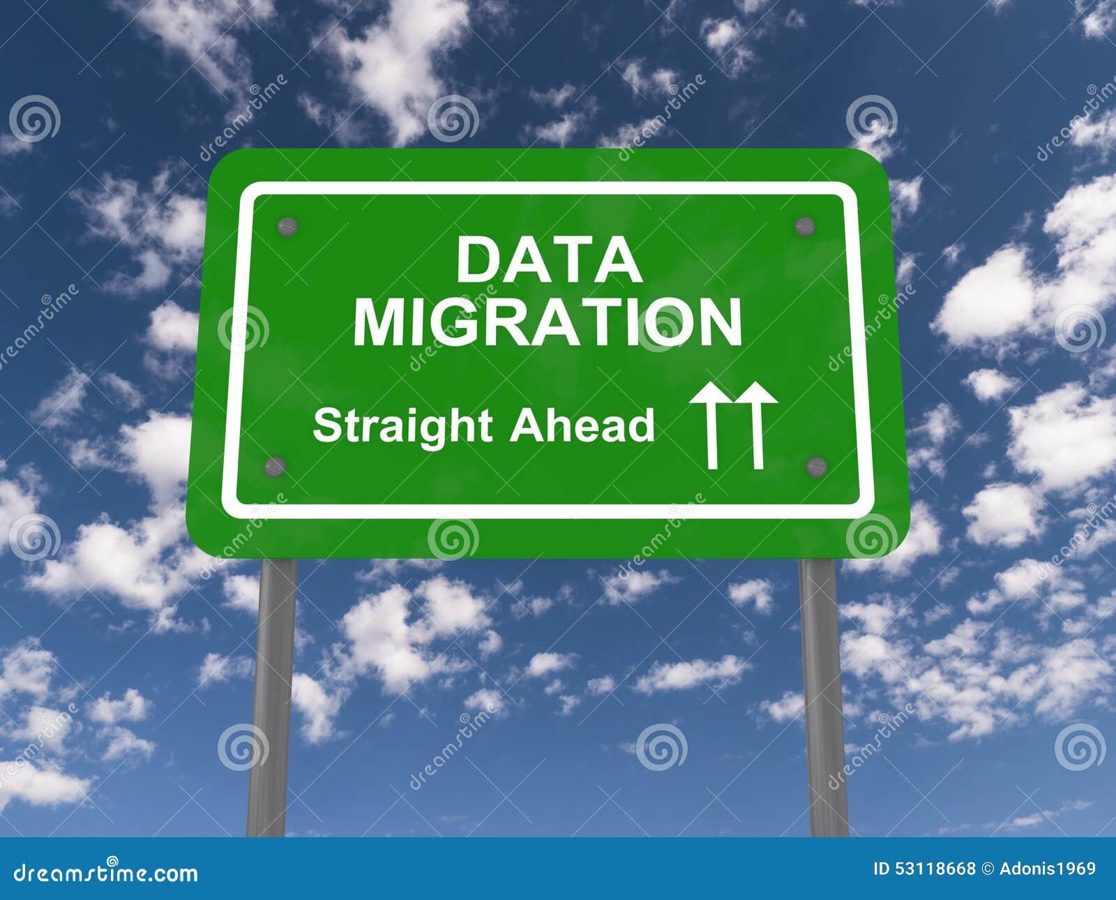 Migração de dados reta