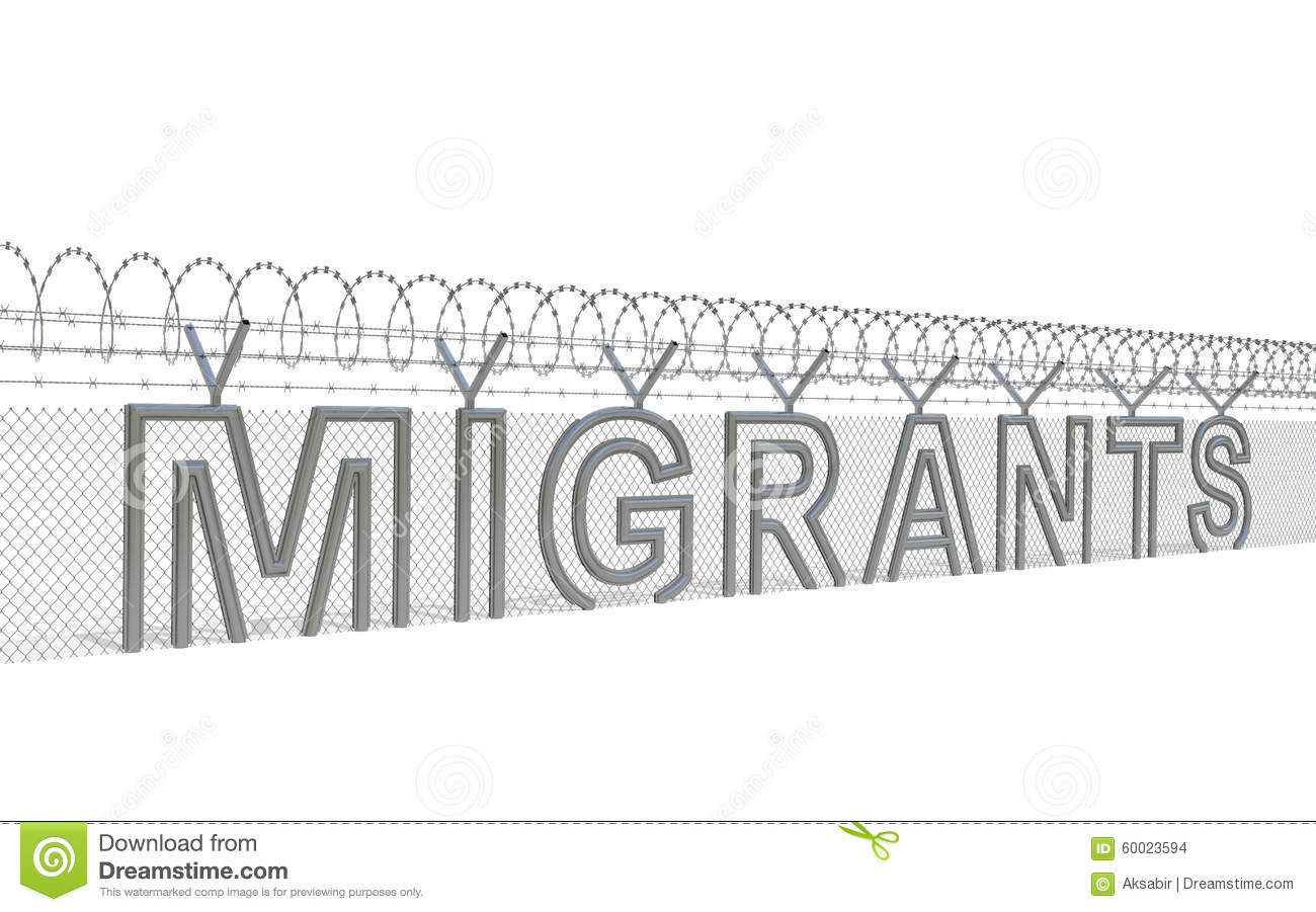 Migration crisis concept stock illustration. Illustration of policy ...