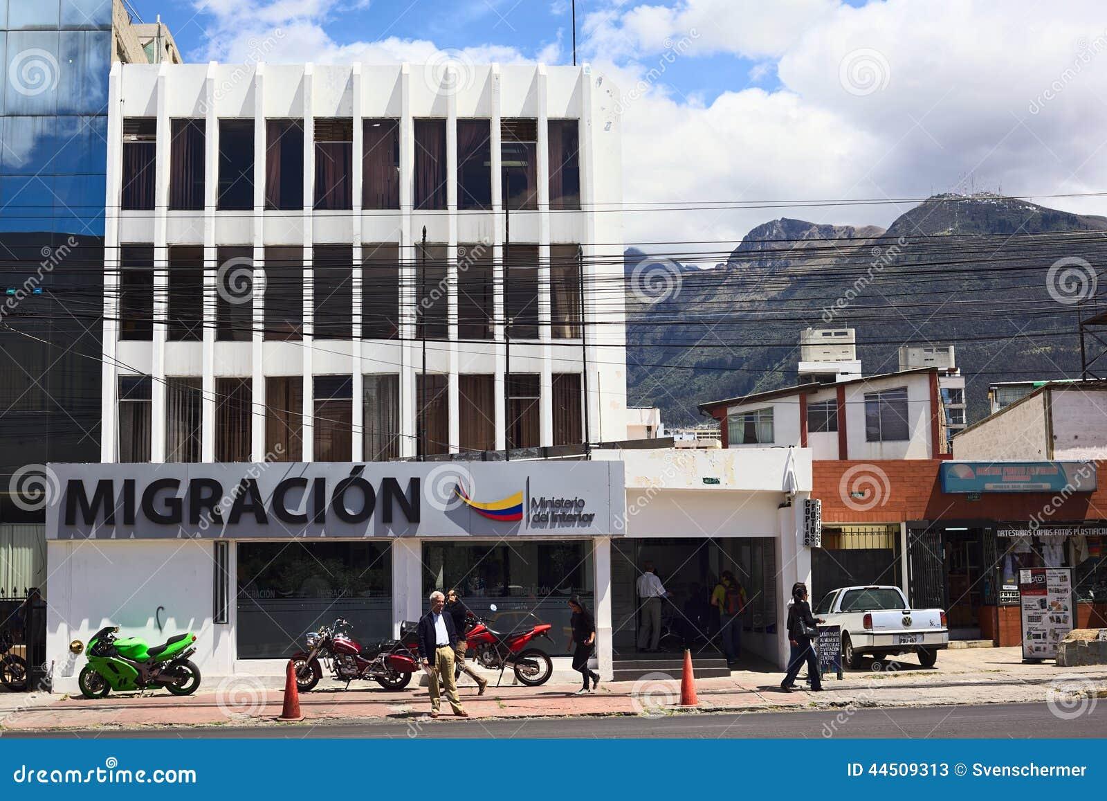 Migration office building in quito ecuador editorial for Office design quito