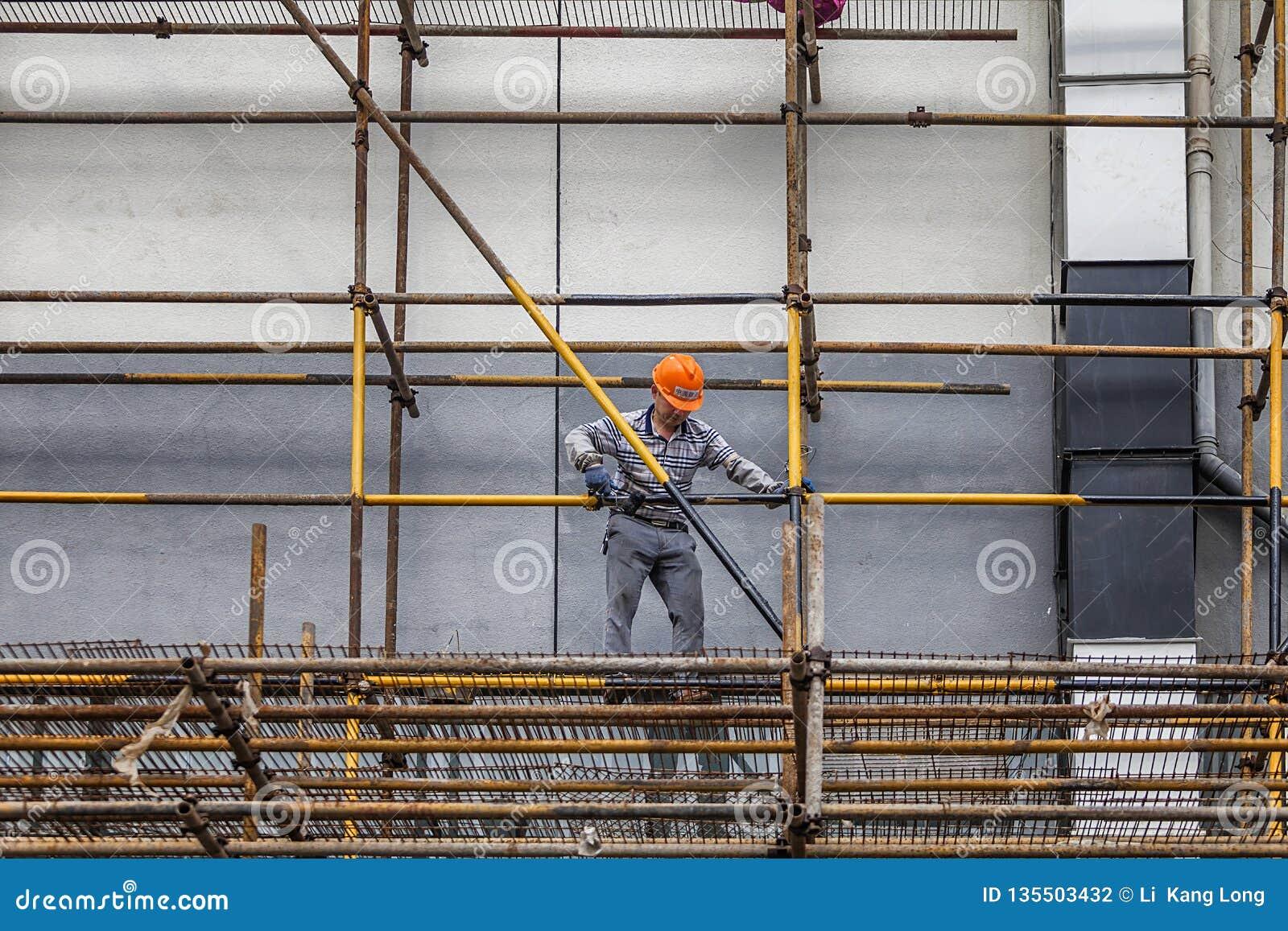 Migrerende werknemers het werken