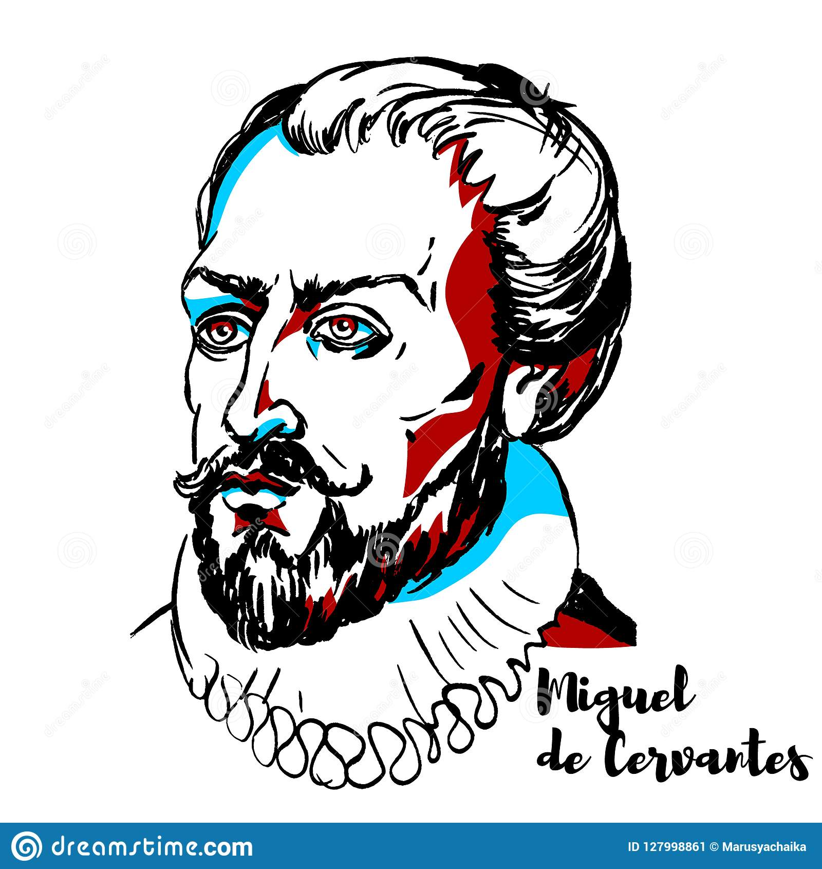 Miguel De Cervantes portret