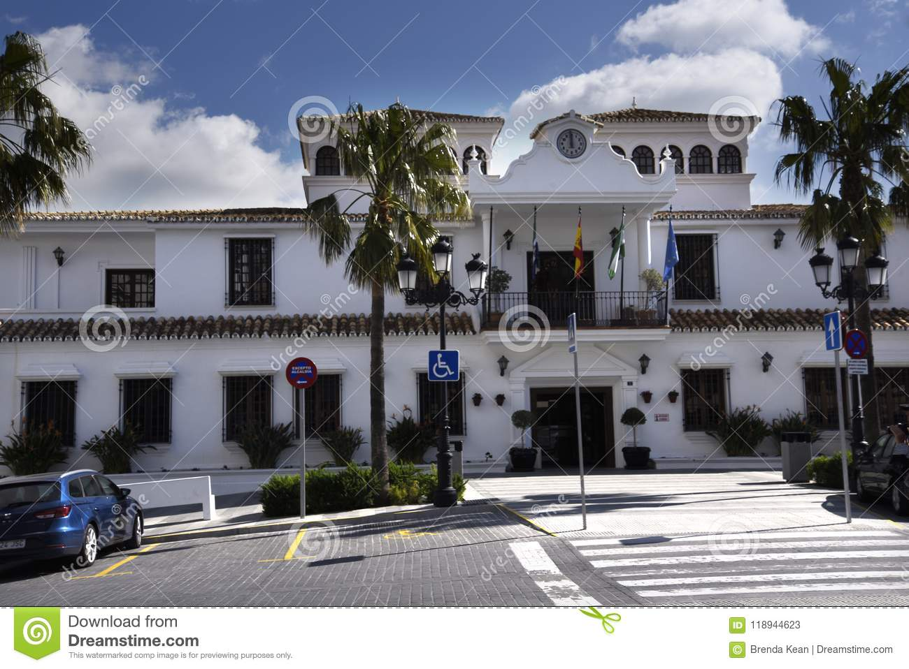 Town Hall In Mijas In The Mountains Above The Costa Del Sol