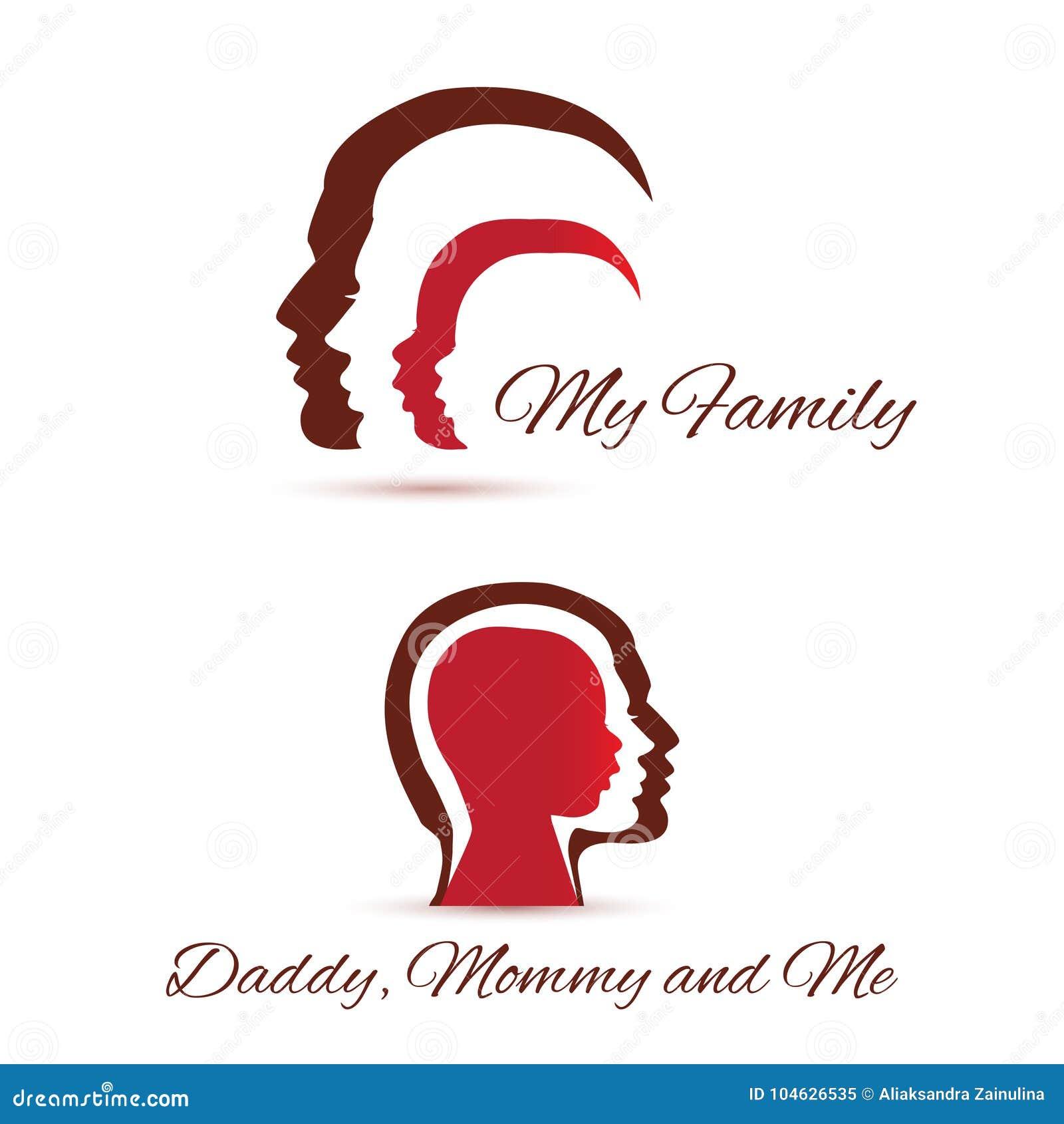 Download Mijn familiepictogrammen vector illustratie. Illustratie bestaande uit zaken - 104626535