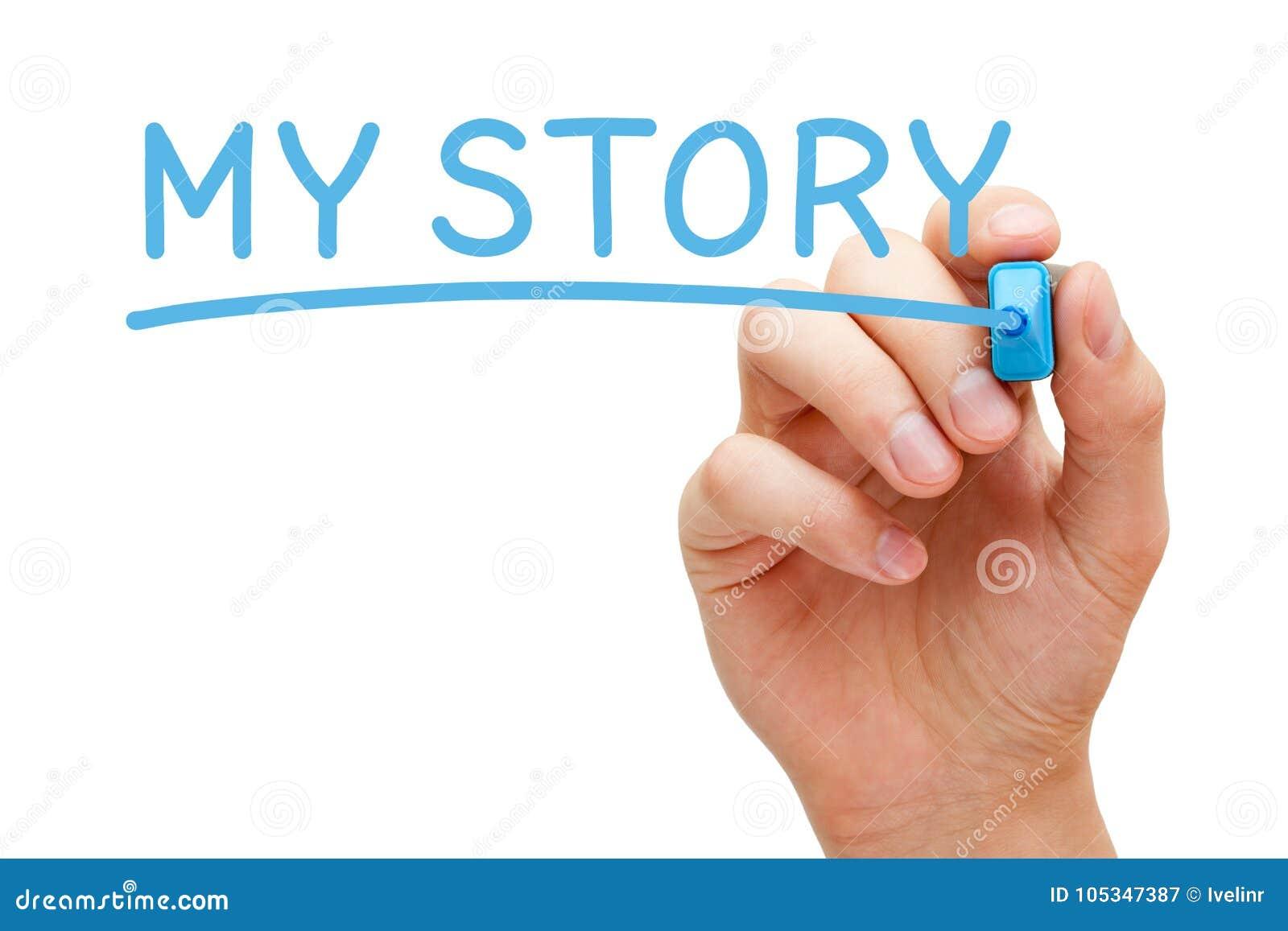 Mijn Verhaal Met de hand geschreven met Blauwe Teller