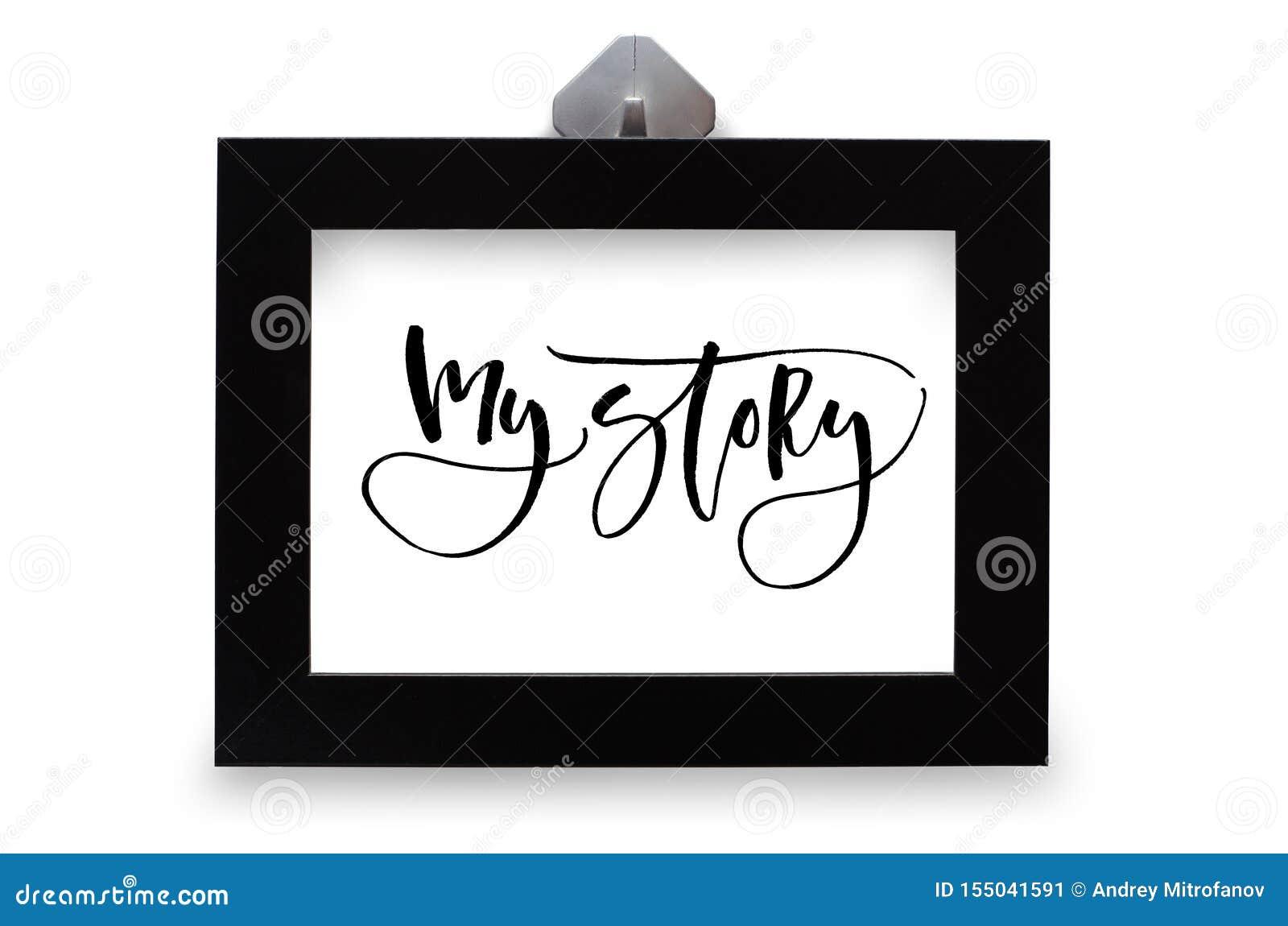 Mijn Verhaal Met De Hand Geschreven Tekst Moderne