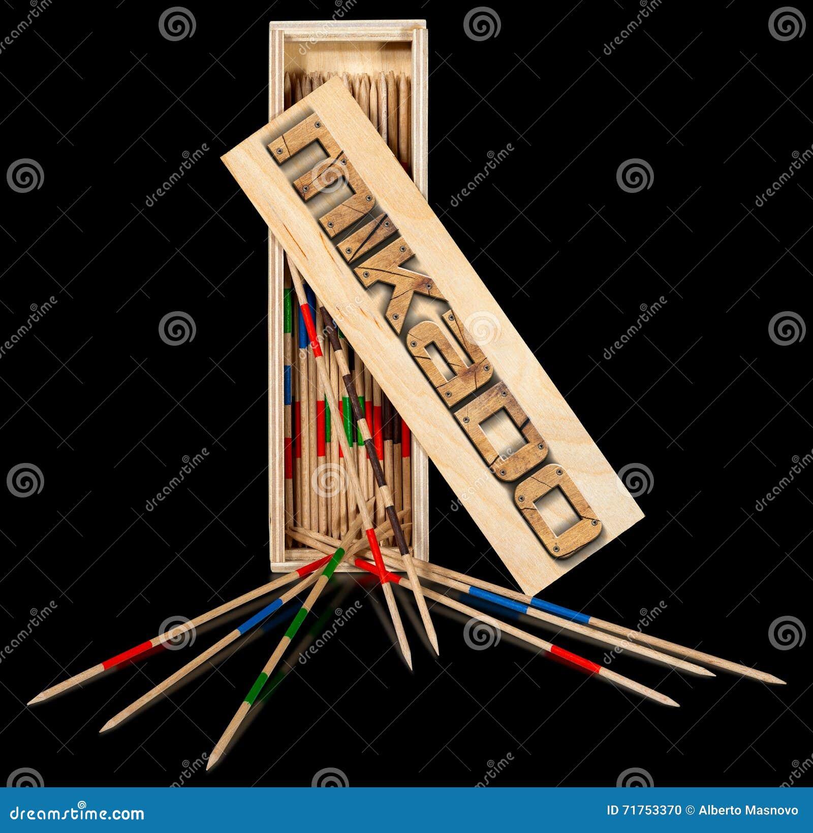 Mikado - ξύλινα ραβδιά και κιβώτιο