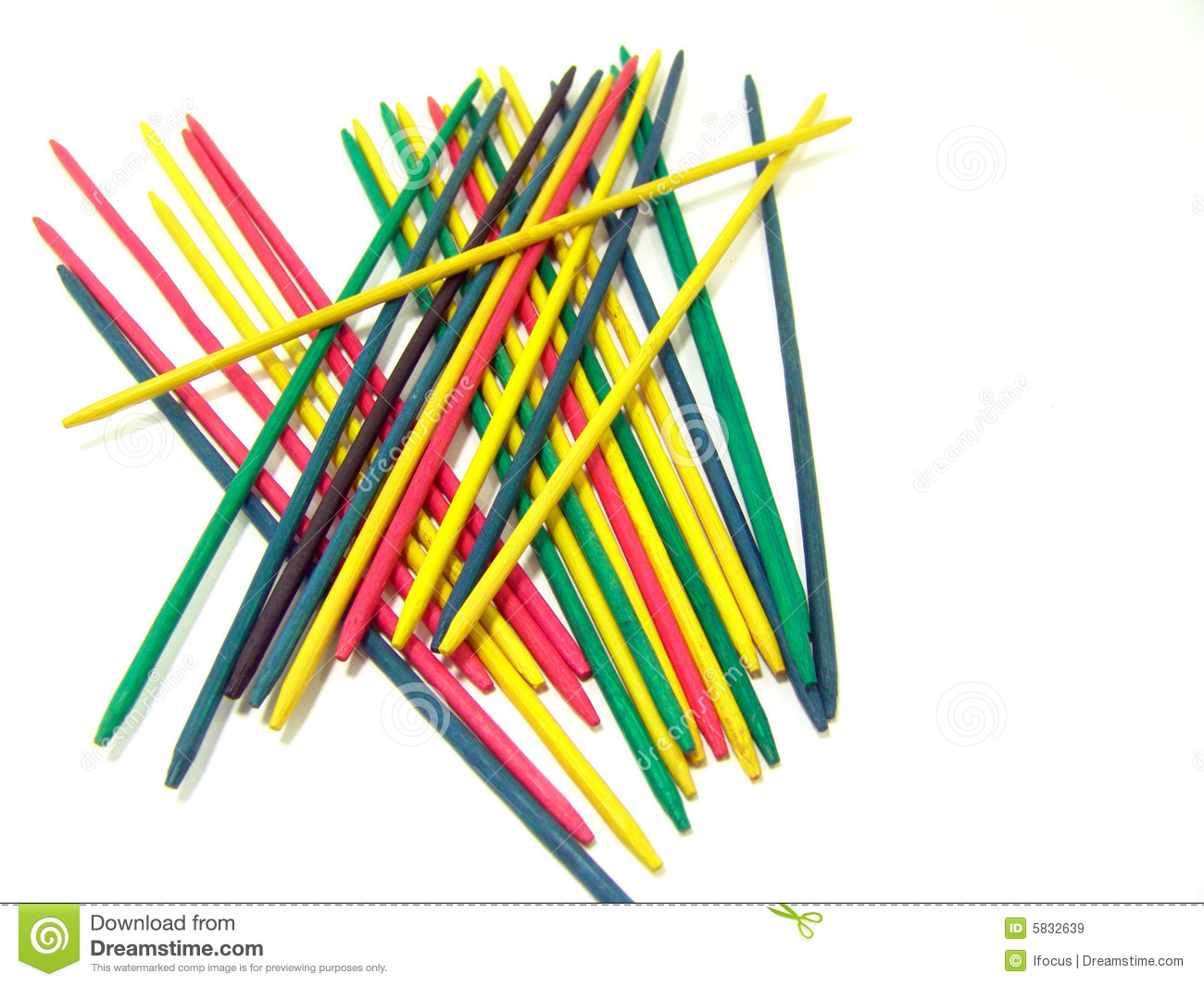 Mikado, A Game Of Skill Royalty Free Stock Images - Image: 5832639