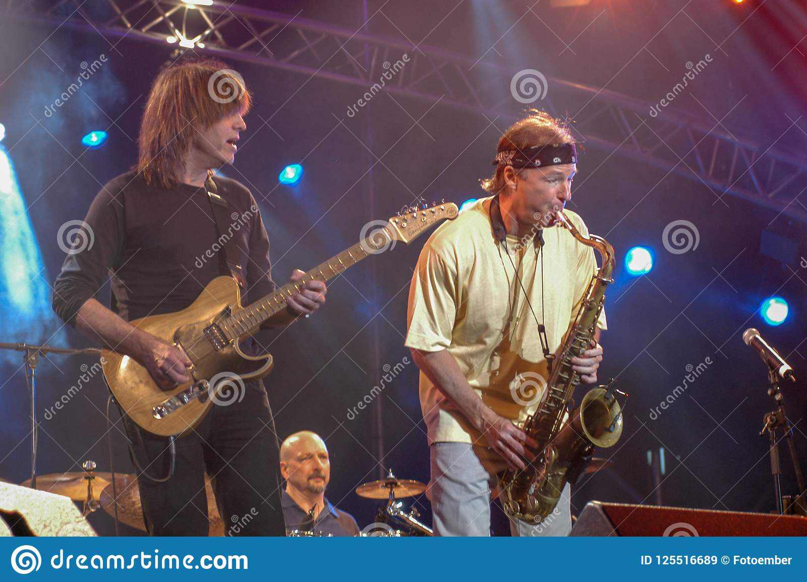 Mike Stern And Bill Evans Of Steps Ahead Editorial Stock Image