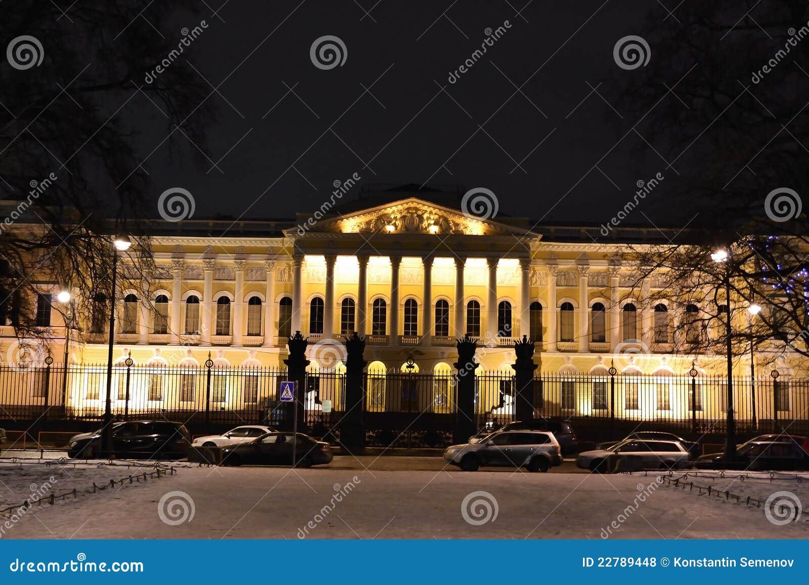 Mikhailovsky παλάτι ρωσικά νύχτας μουσείων