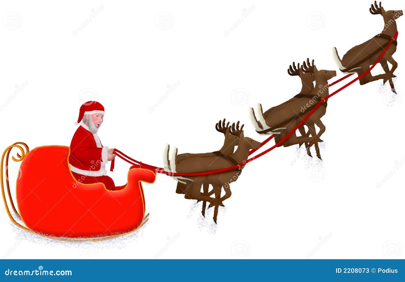 Mikołaj jest sanie