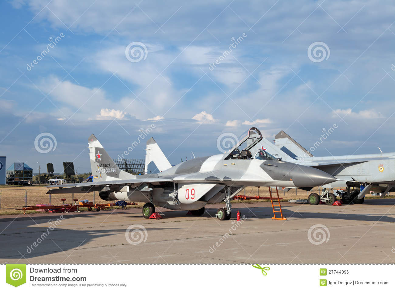 Mikoyan MiG-29 editorial photo  Image of clouds, martial - 27744396