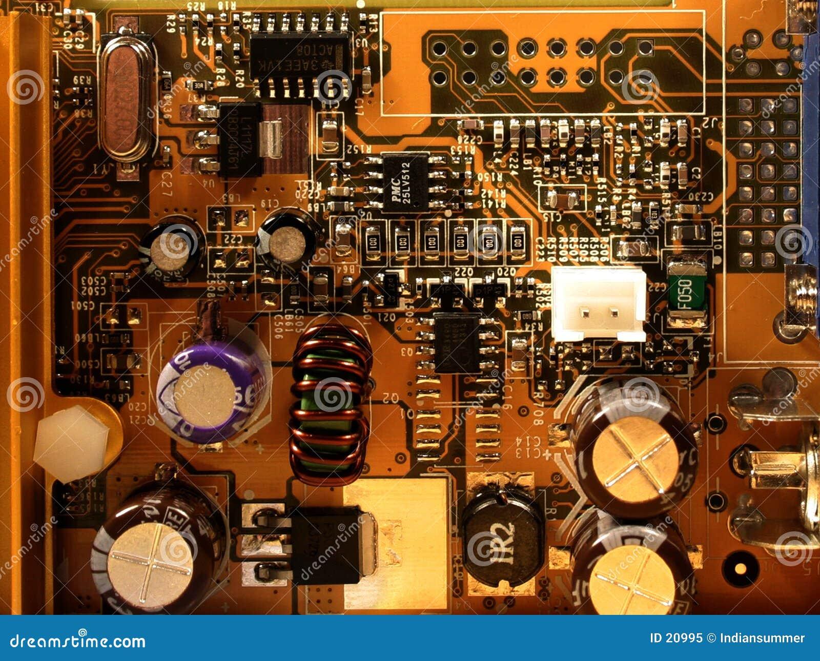 Mikrochip von videocard