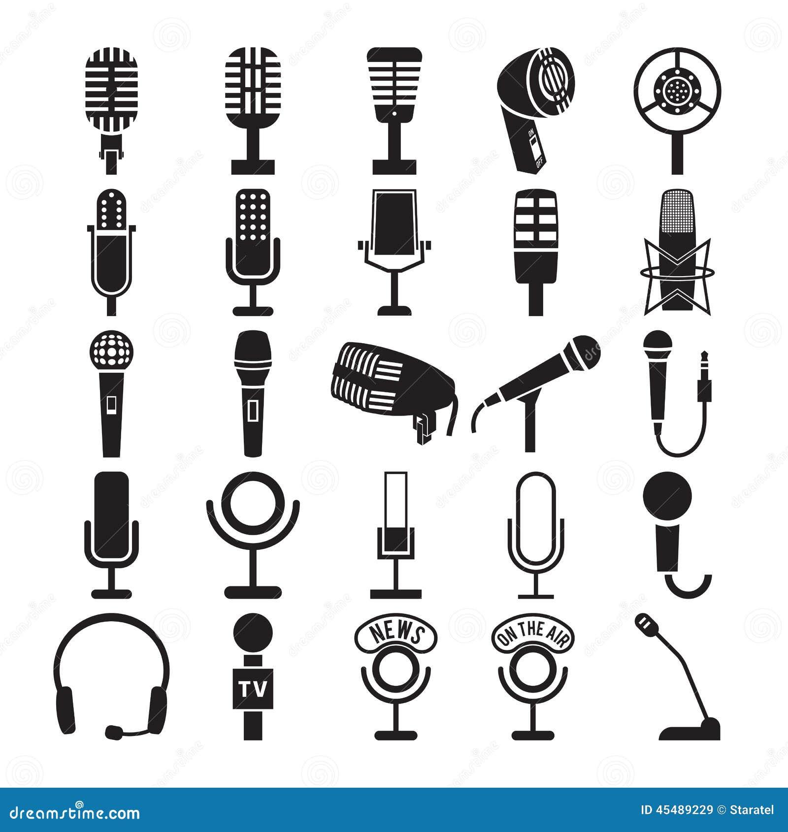 Mikrofon ikony ustawiać