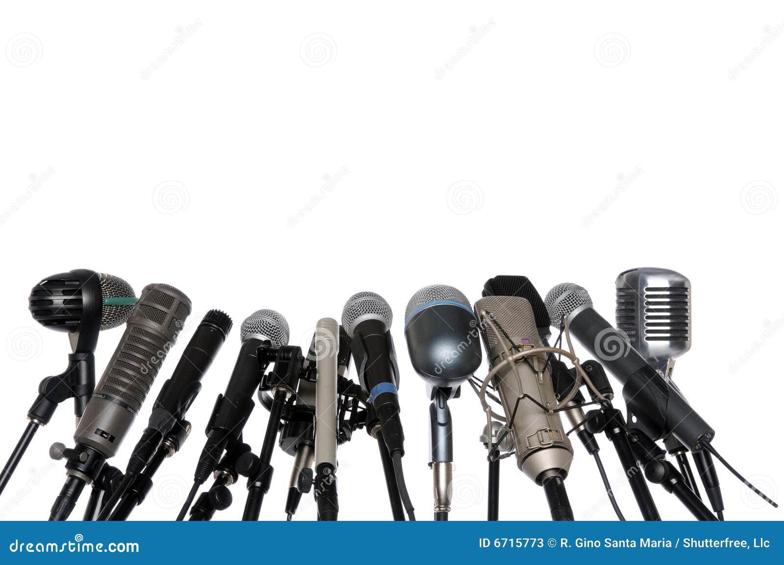 Mikrofon konferencyjna prasa