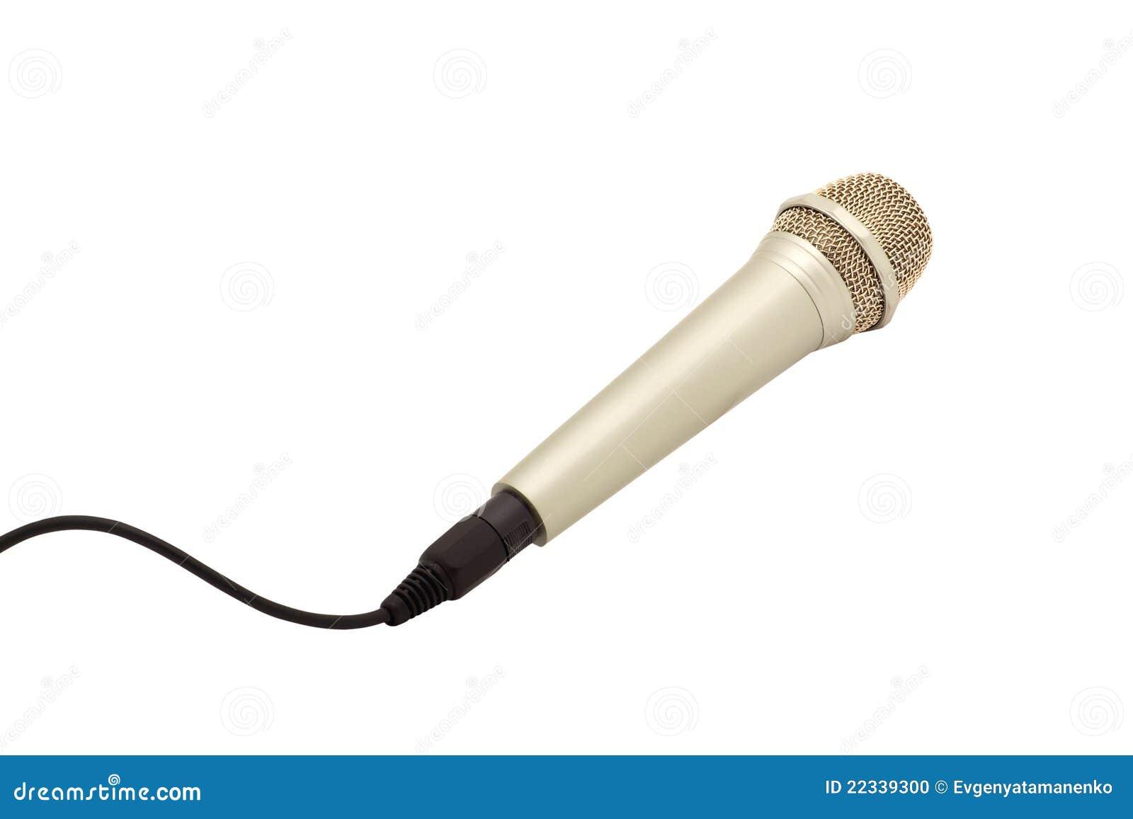Mikrofon mit einem Netzkabel