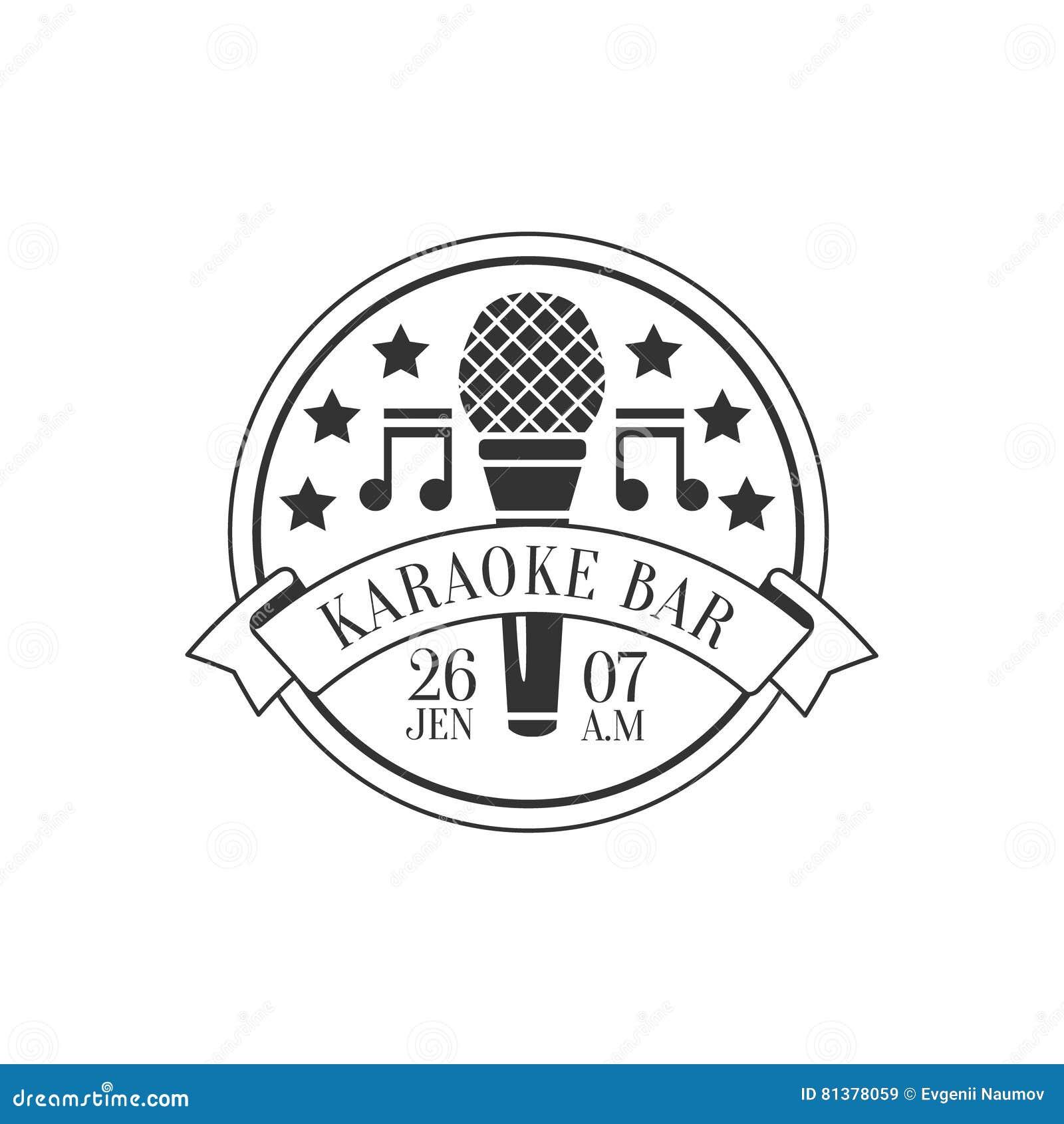 Mikrofon Und Musik Symols Runde Rahmen-Karaoke-erstklassige ...