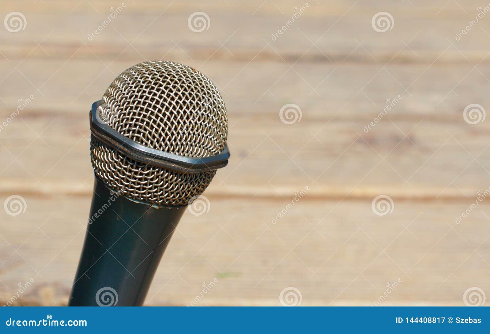 Mikrofonu szczegół outdoors