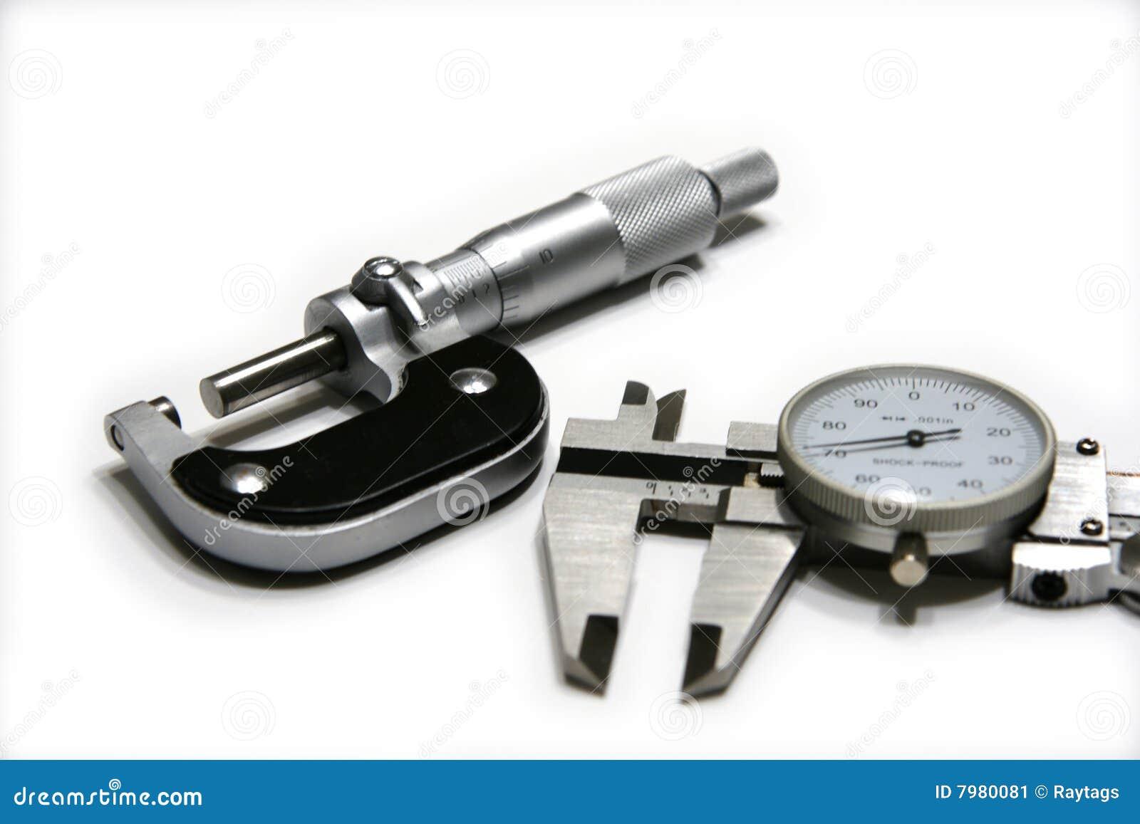 Mikrometer und Schieber