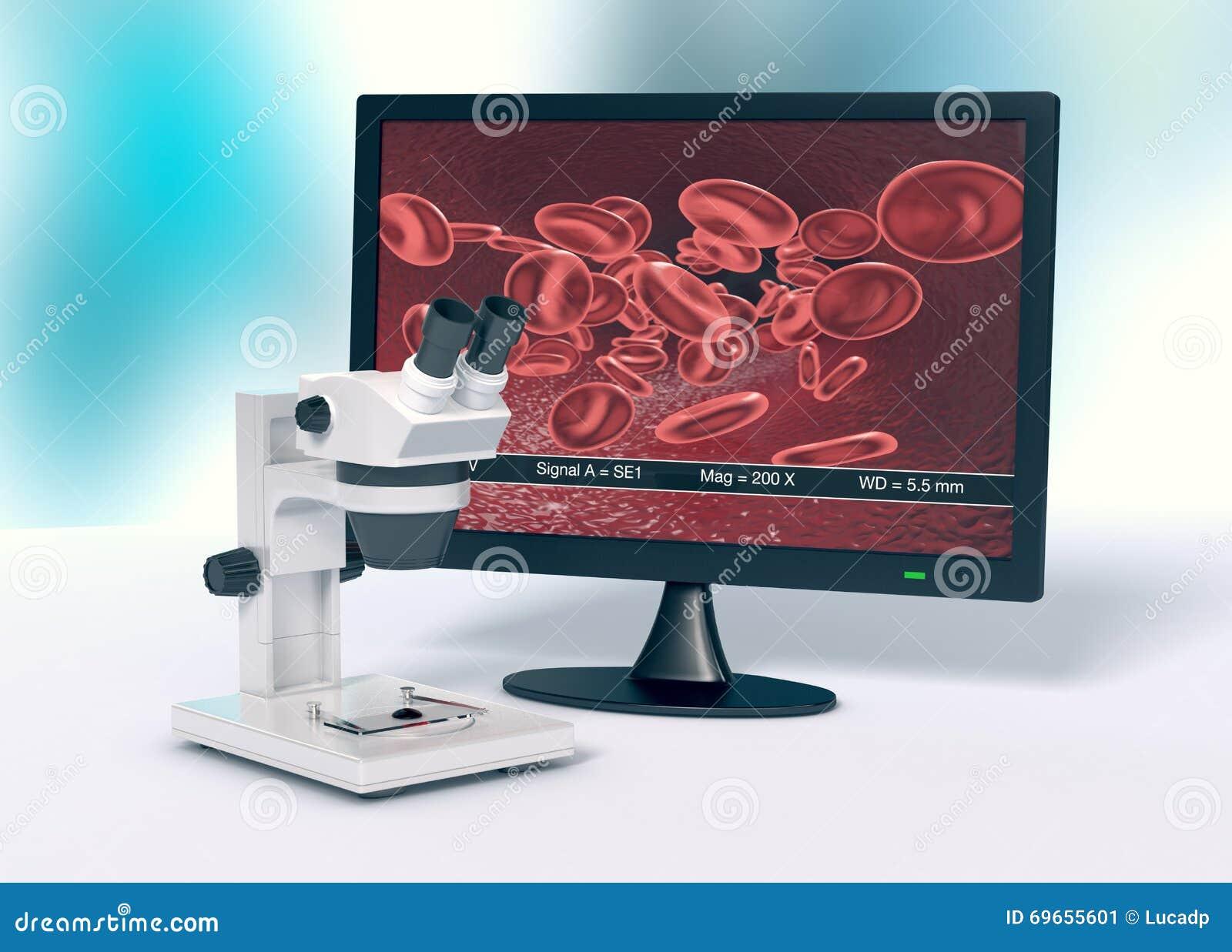 Mikroskop, begrepp av vetenskaplig forskning och nya tekniker