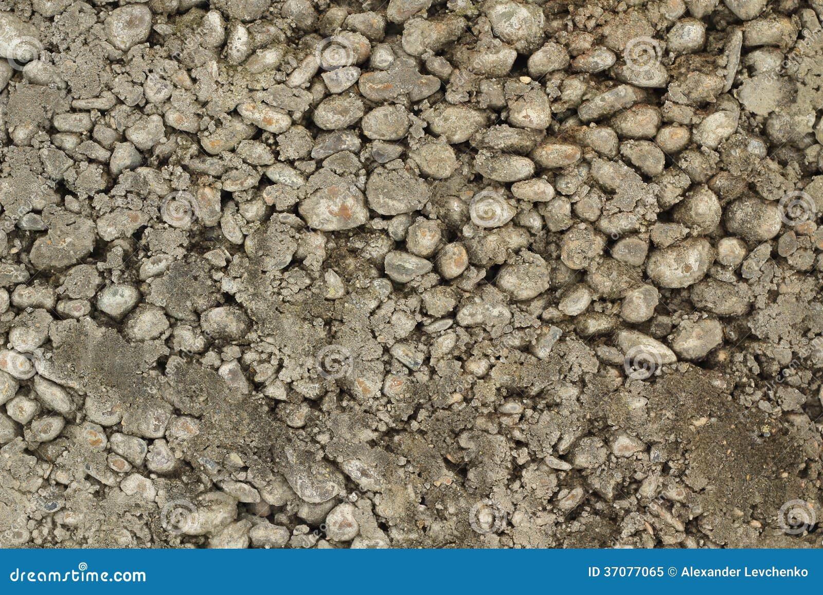 Download Mikstura żwiru I Betonu Tło Obraz Stock - Obraz złożonej z wyznaczający, mieszanka: 37077065