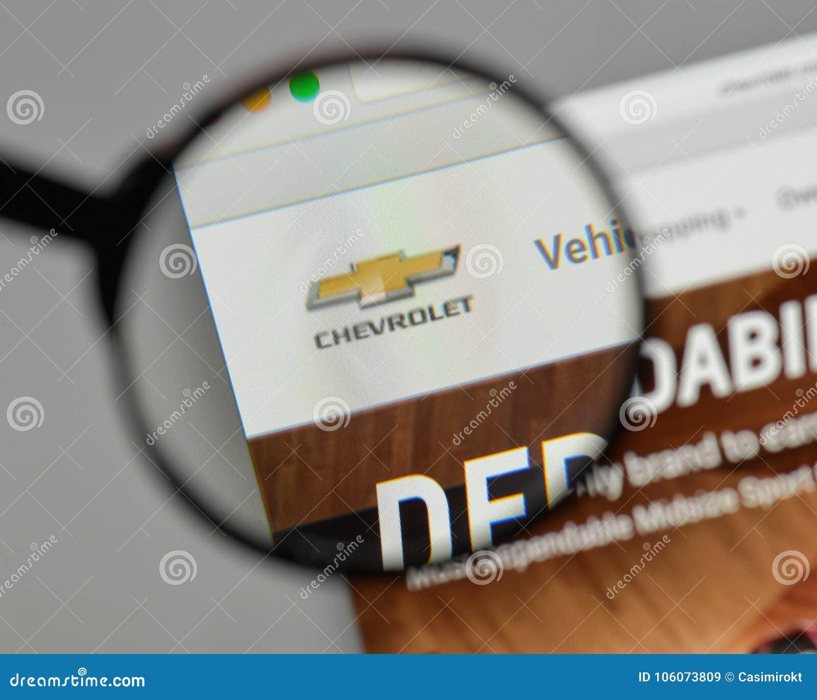 Download Milão, Itália   10 De Agosto De 2017: Logotipo De Chevrolet No Web