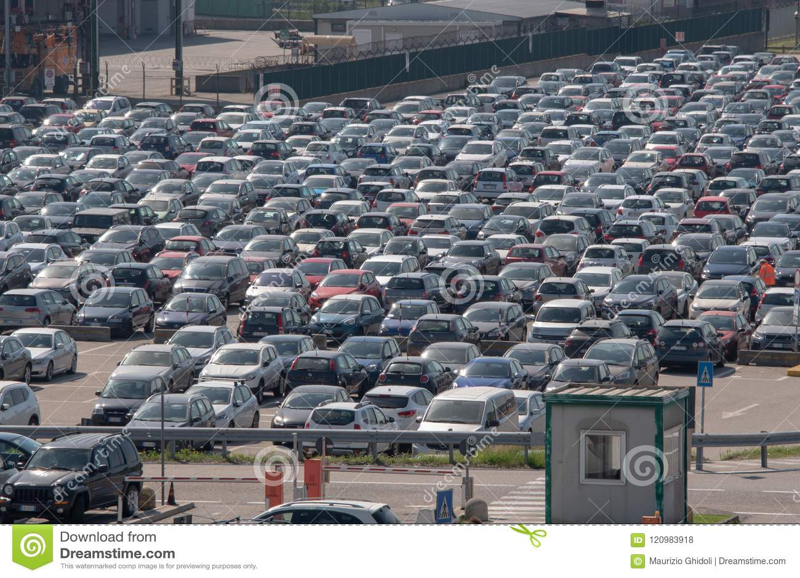 123c8f48 Milan: The Car Park Of Malpensa Airport Editorial Stock Photo ...
