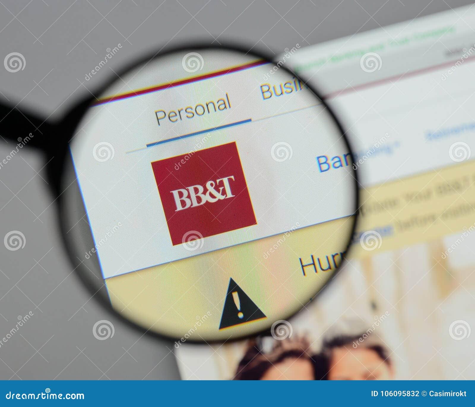 Milaan, Italië - Augustus 10, 2017: BB&T Corp embleem op de website h